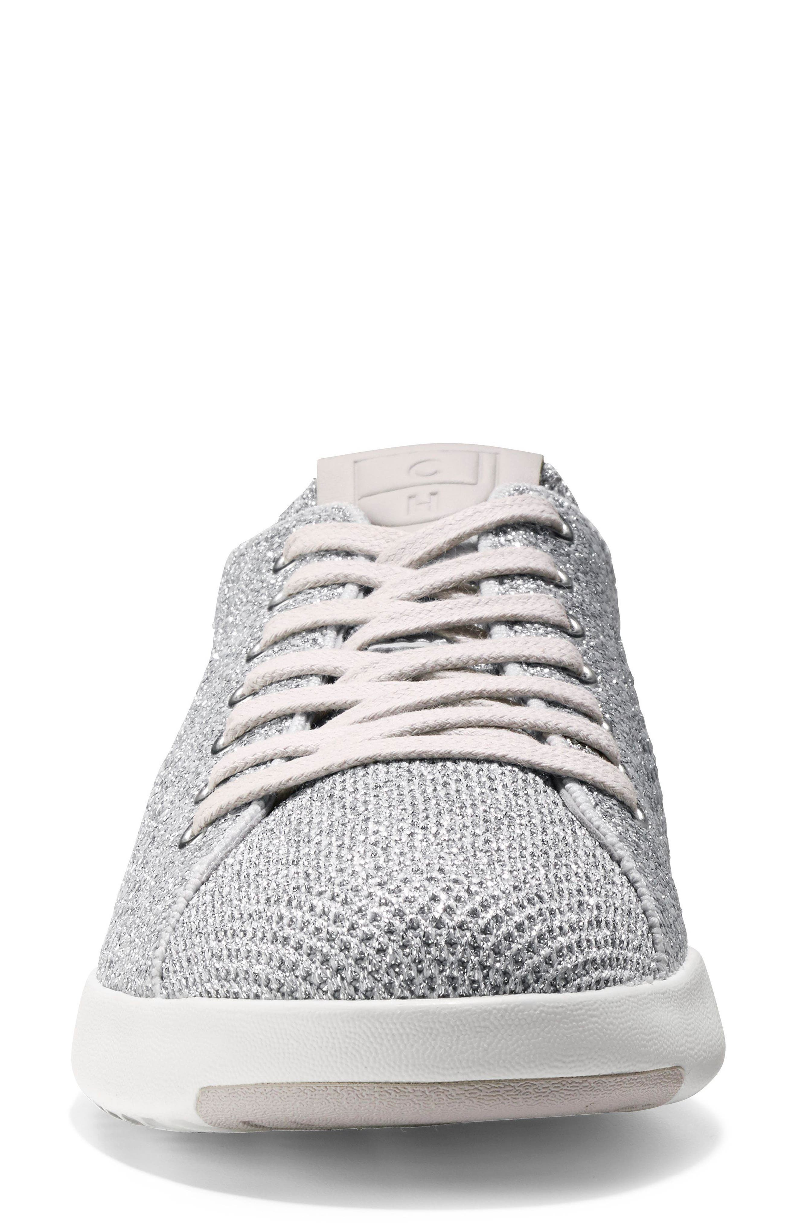 GrandPro Stitchlite Sneaker,                             Alternate thumbnail 4, color,                             Silver Fabric