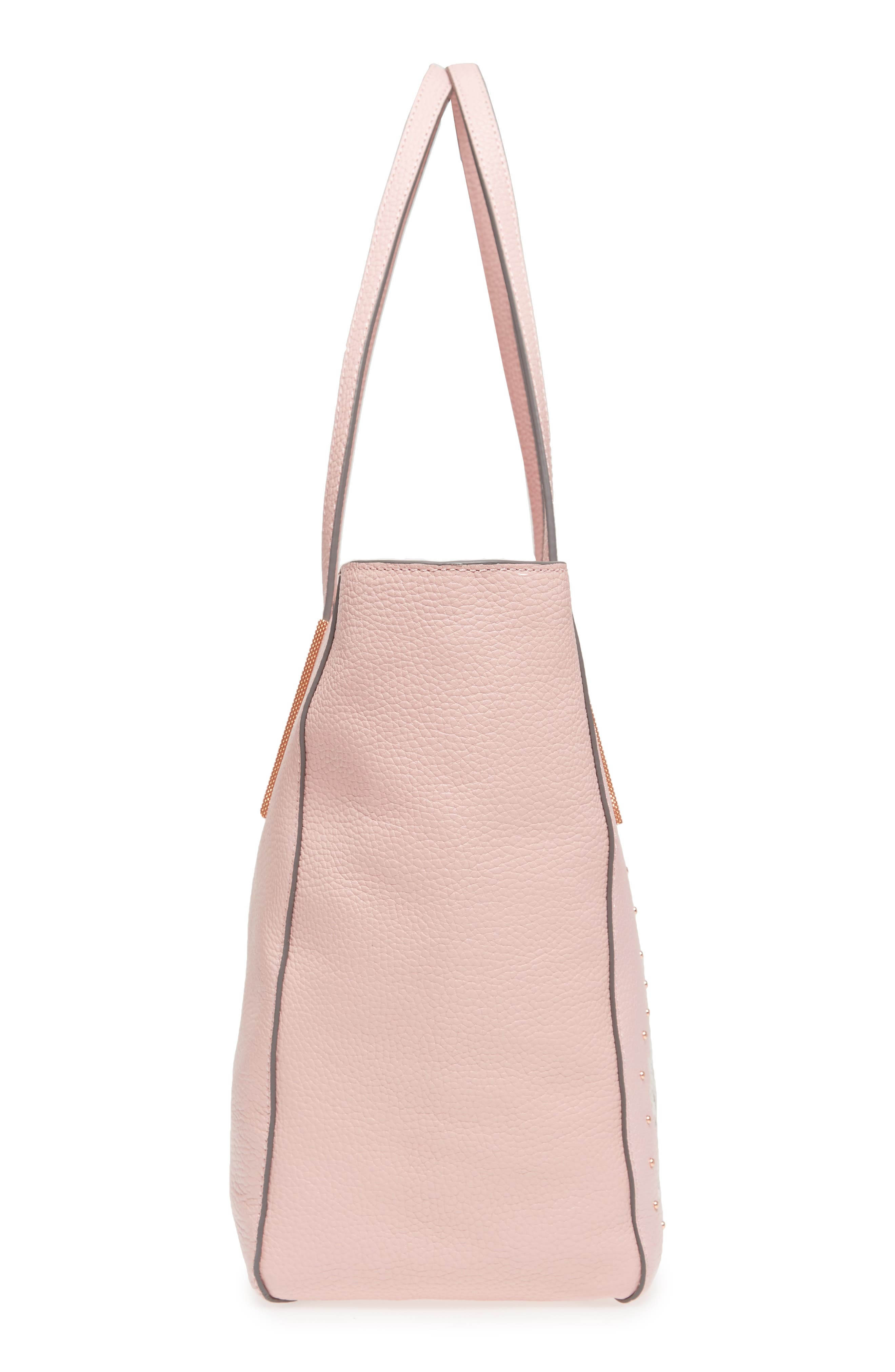 Palace Gardens Large Leather Tote,                             Alternate thumbnail 5, color,                             Dusky Pink