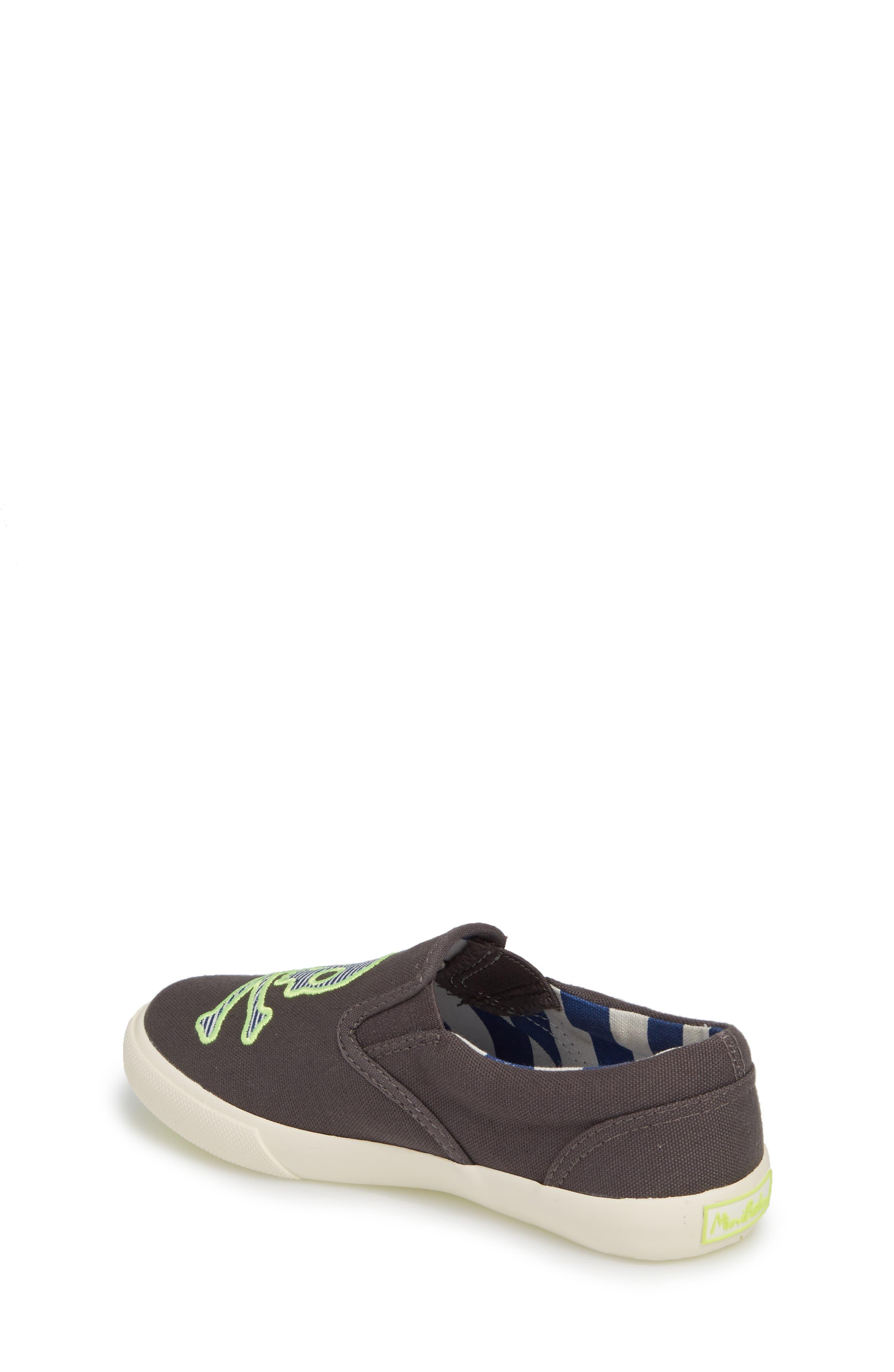 Embroidered Slip-On Sneaker,                             Alternate thumbnail 2, color,                             Shark Grey