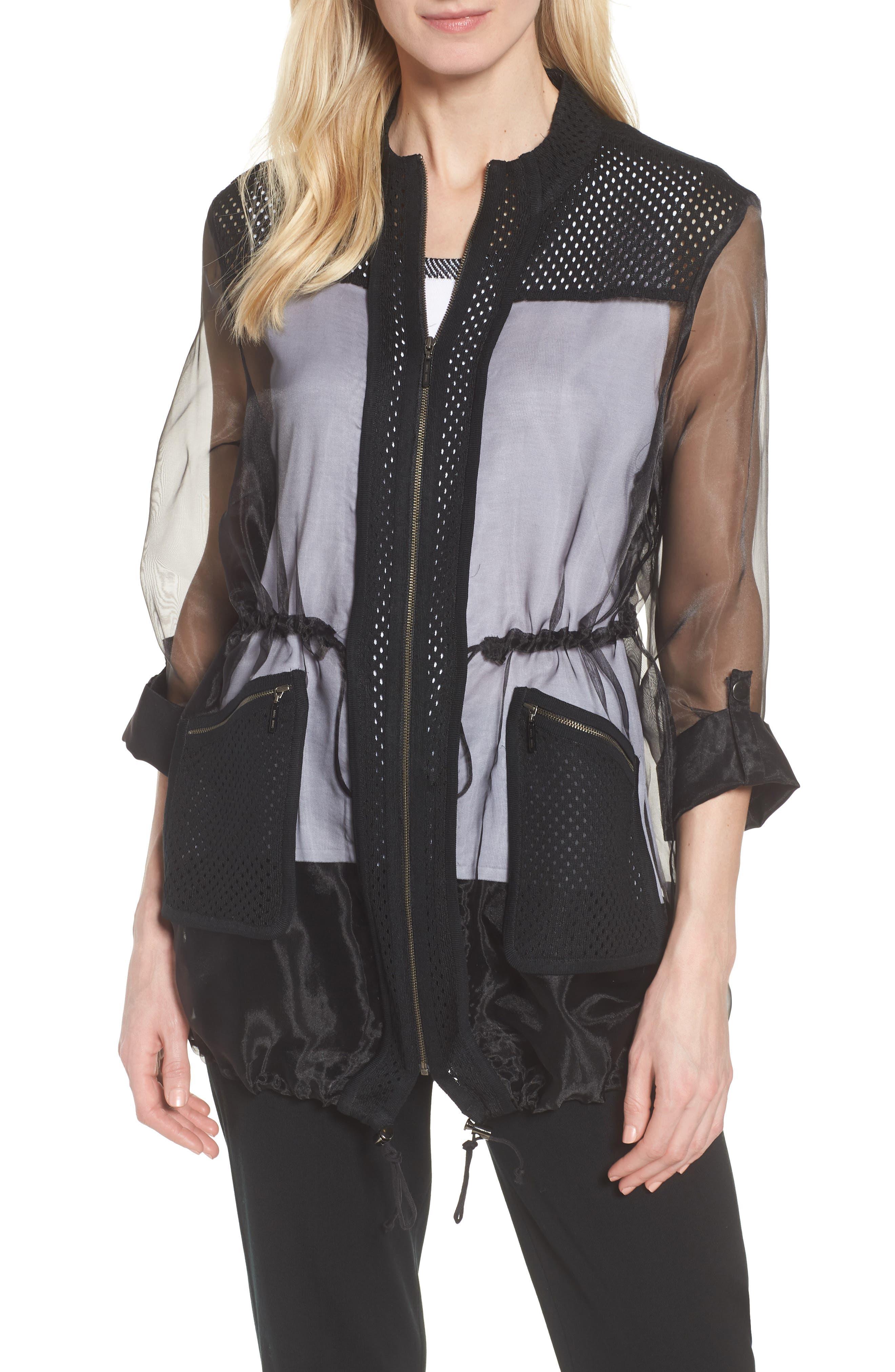 Sheer Jacket,                             Main thumbnail 1, color,                             Black