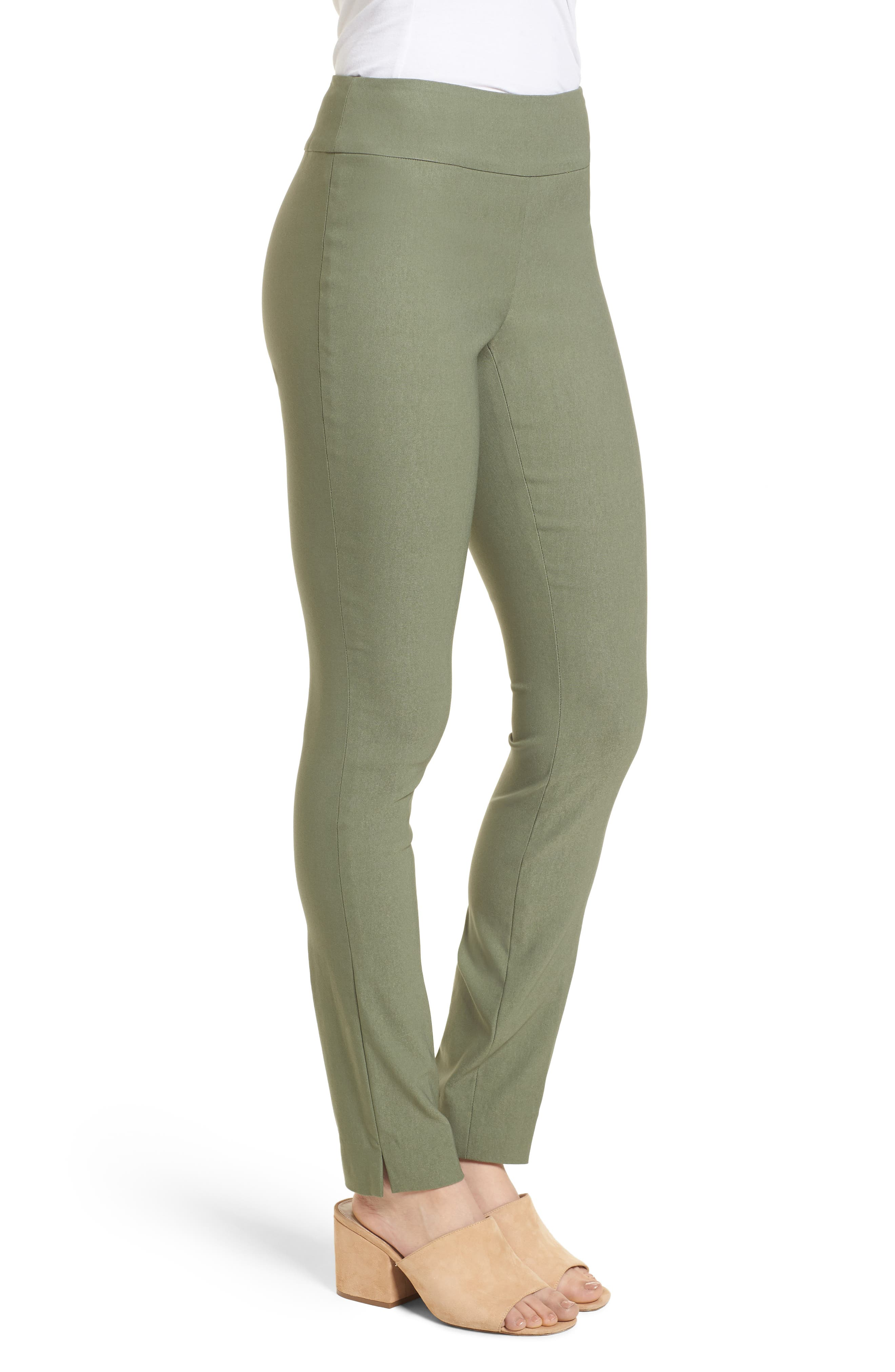 NIC + ZOE Wonderstretch Slim Pants,                             Alternate thumbnail 3, color,                             Spring Moss