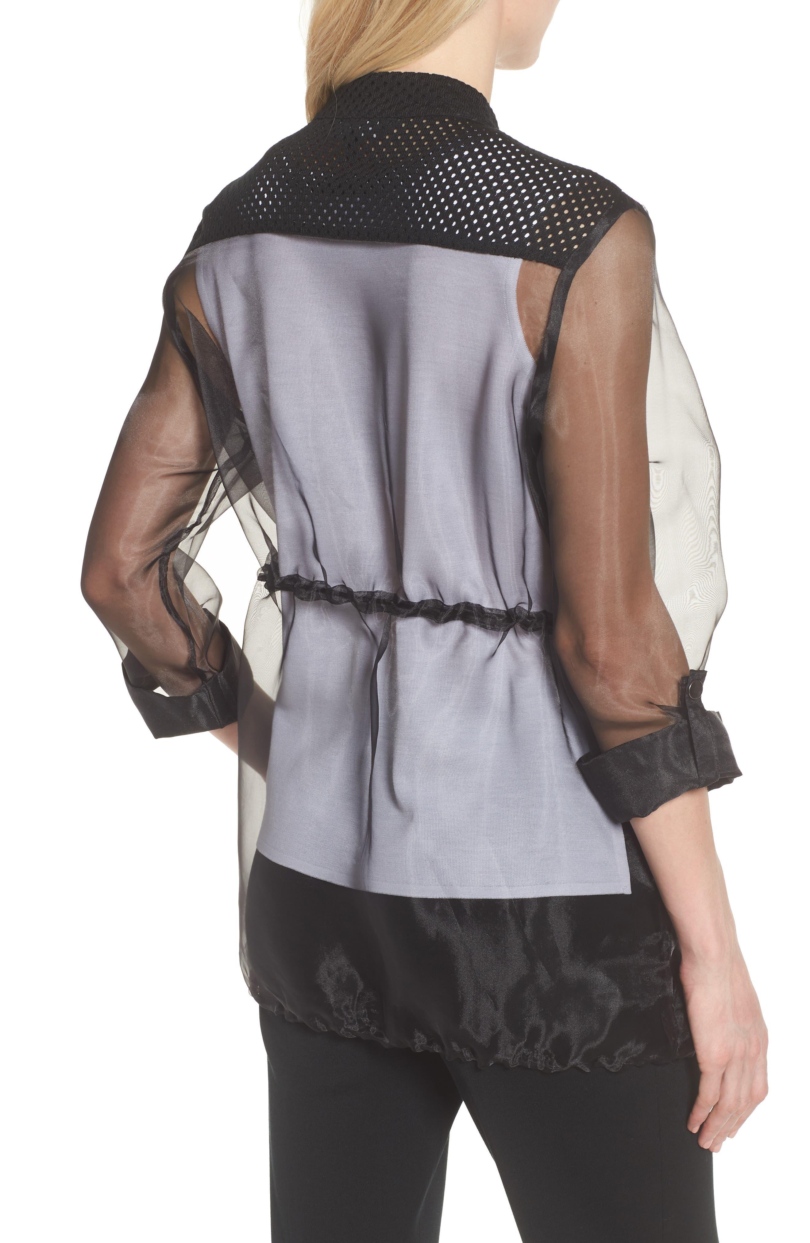 Sheer Jacket,                             Alternate thumbnail 2, color,                             Black
