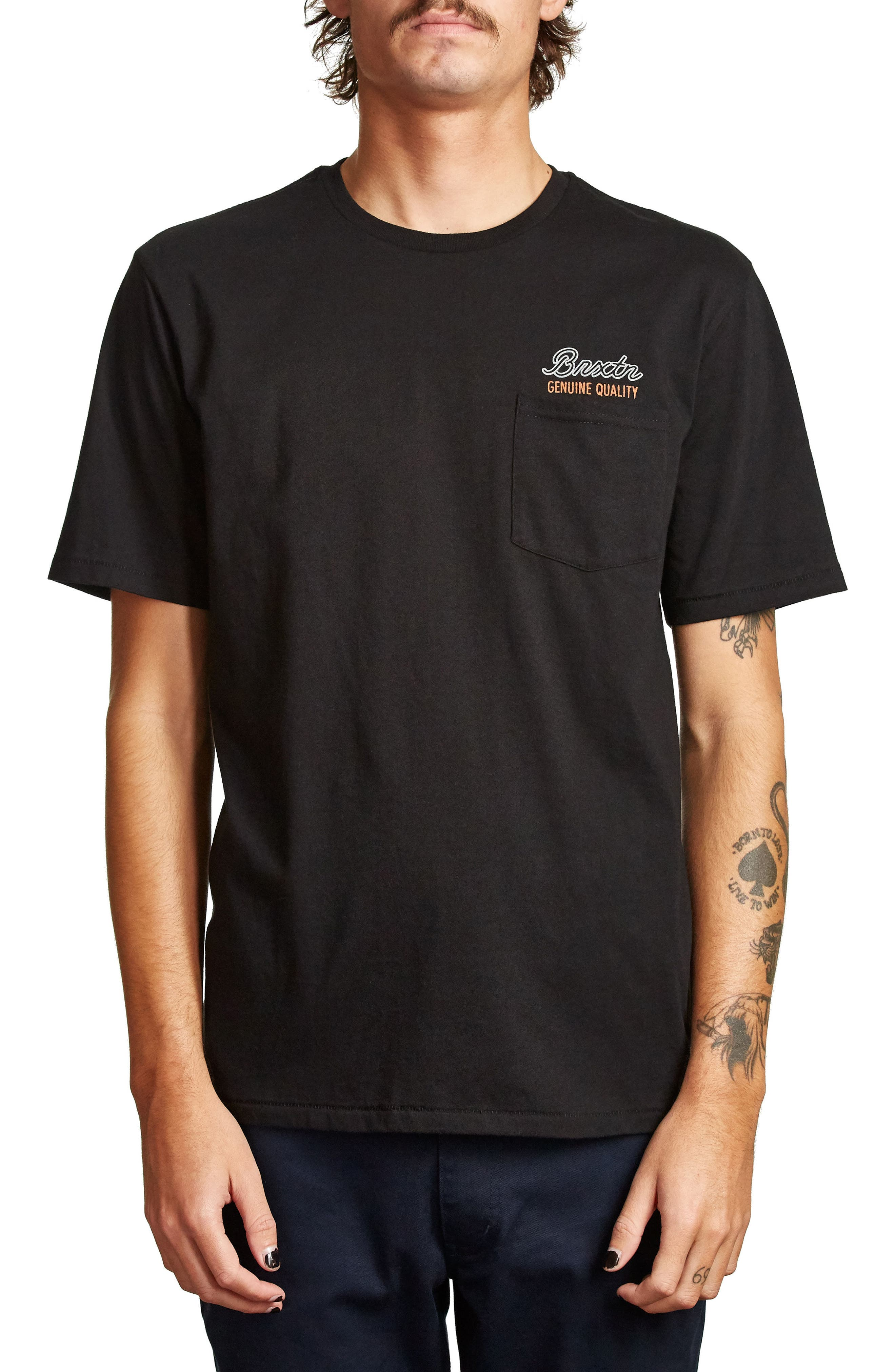 Sprint Pocket T-Shirt,                             Main thumbnail 1, color,                             Black