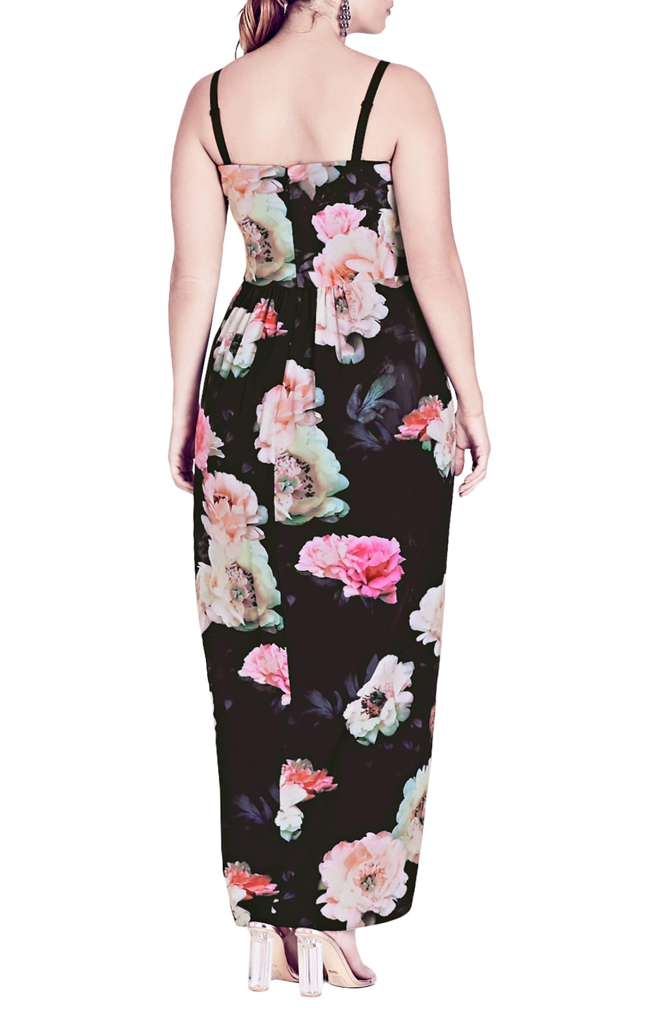 Wonderland Floral Maxi Dress,                             Alternate thumbnail 2, color,                             Pink Floral