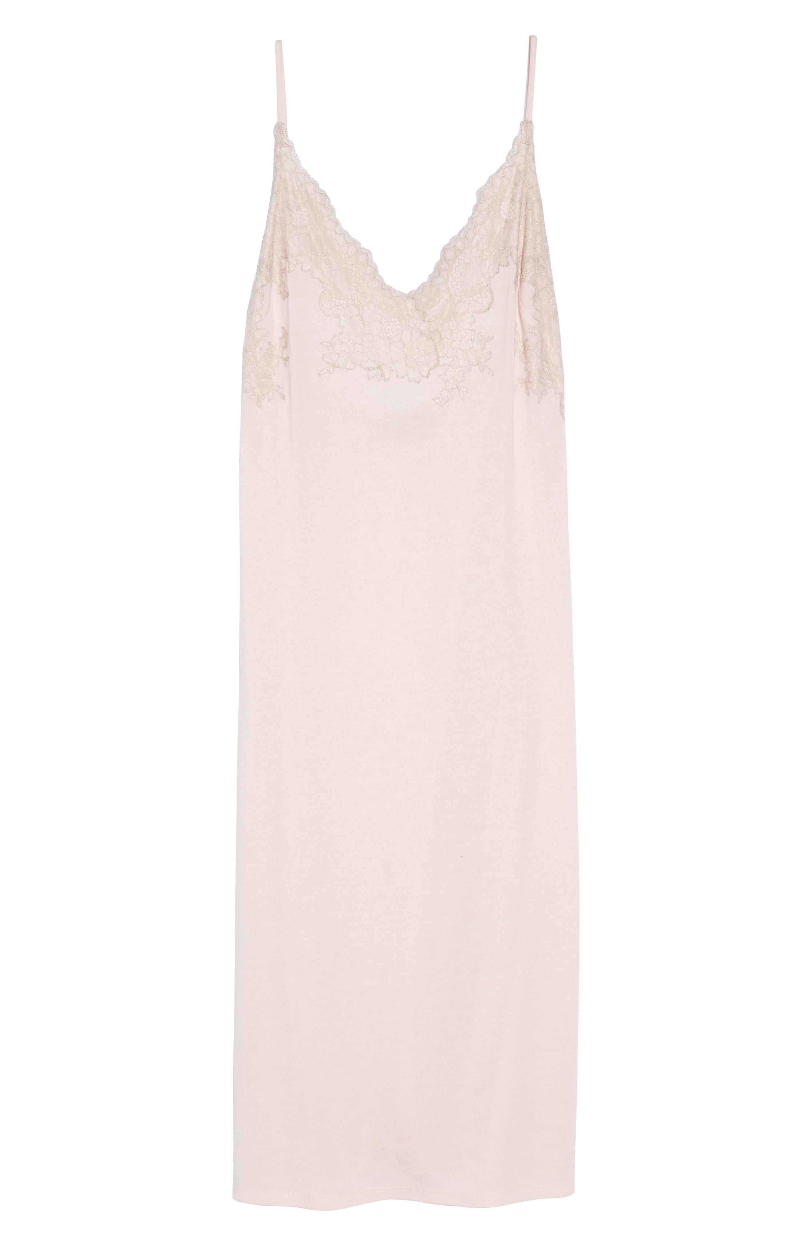 Luxe Shangri-La Nightgown,                             Alternate thumbnail 5, color,                             Blush Pink