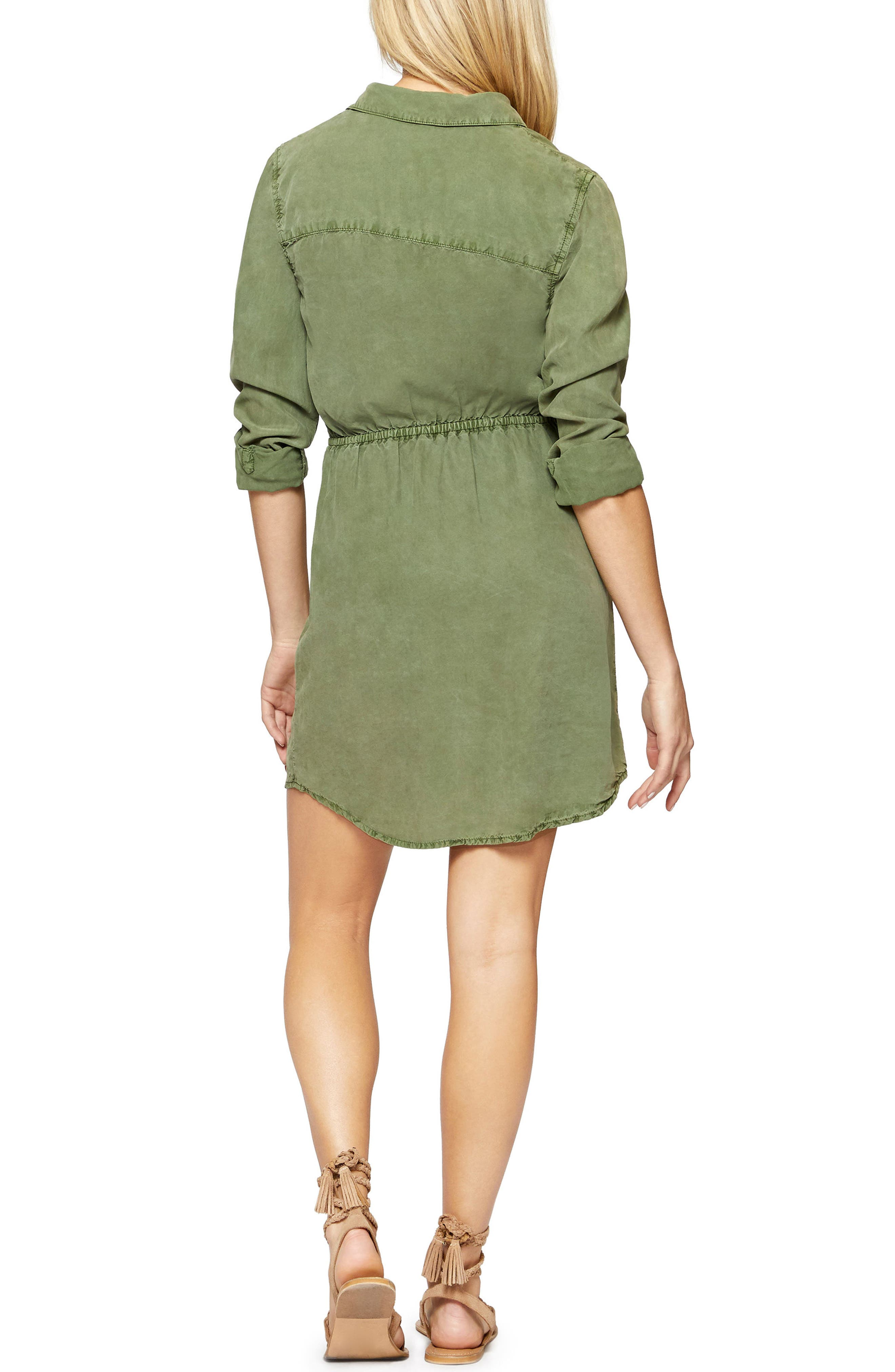 Forget Me Knot Shirtdress,                             Alternate thumbnail 2, color,                             Cadet