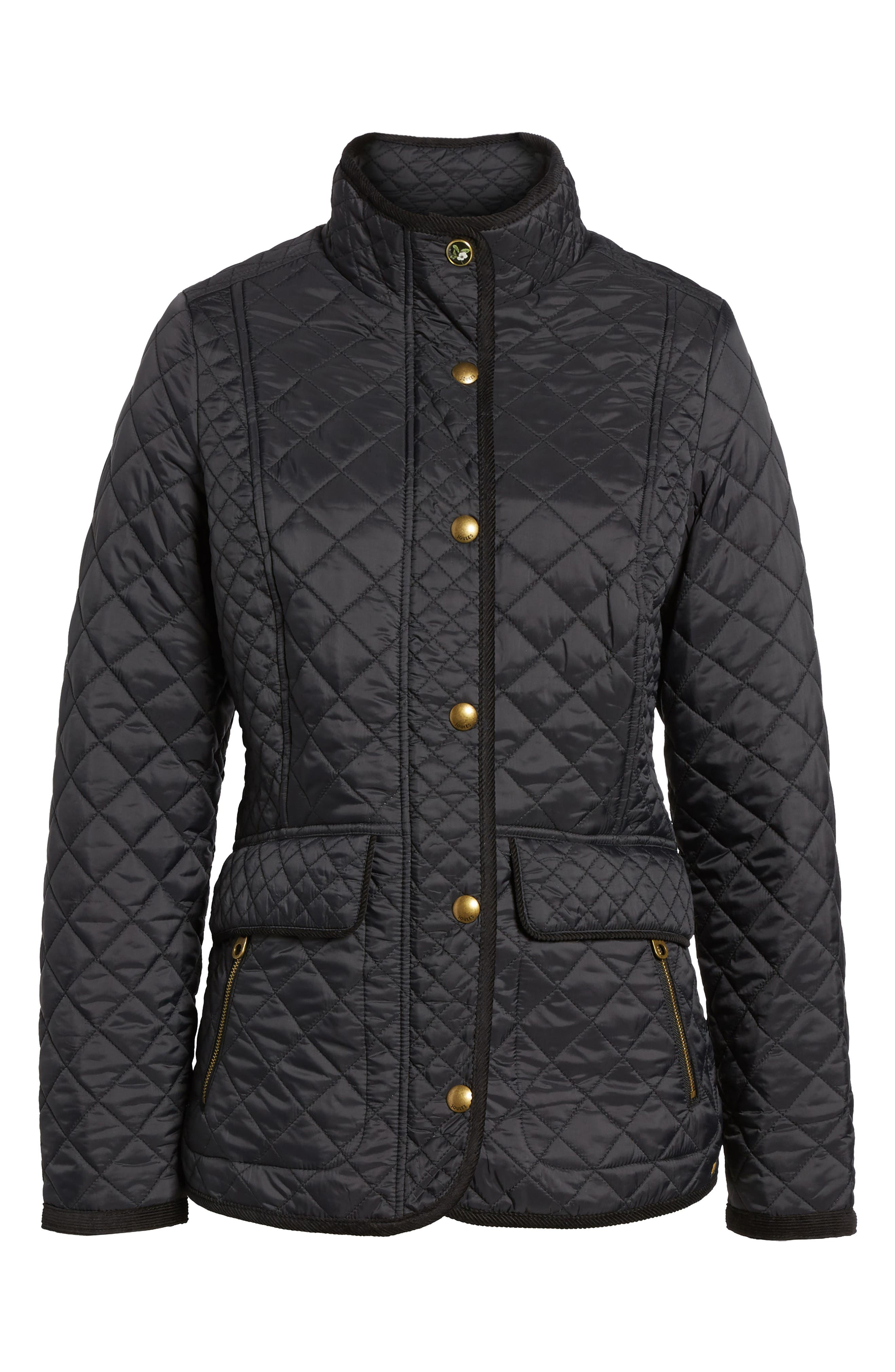 Warm Welcome Quilted Jacket,                             Main thumbnail 1, color,                             Black