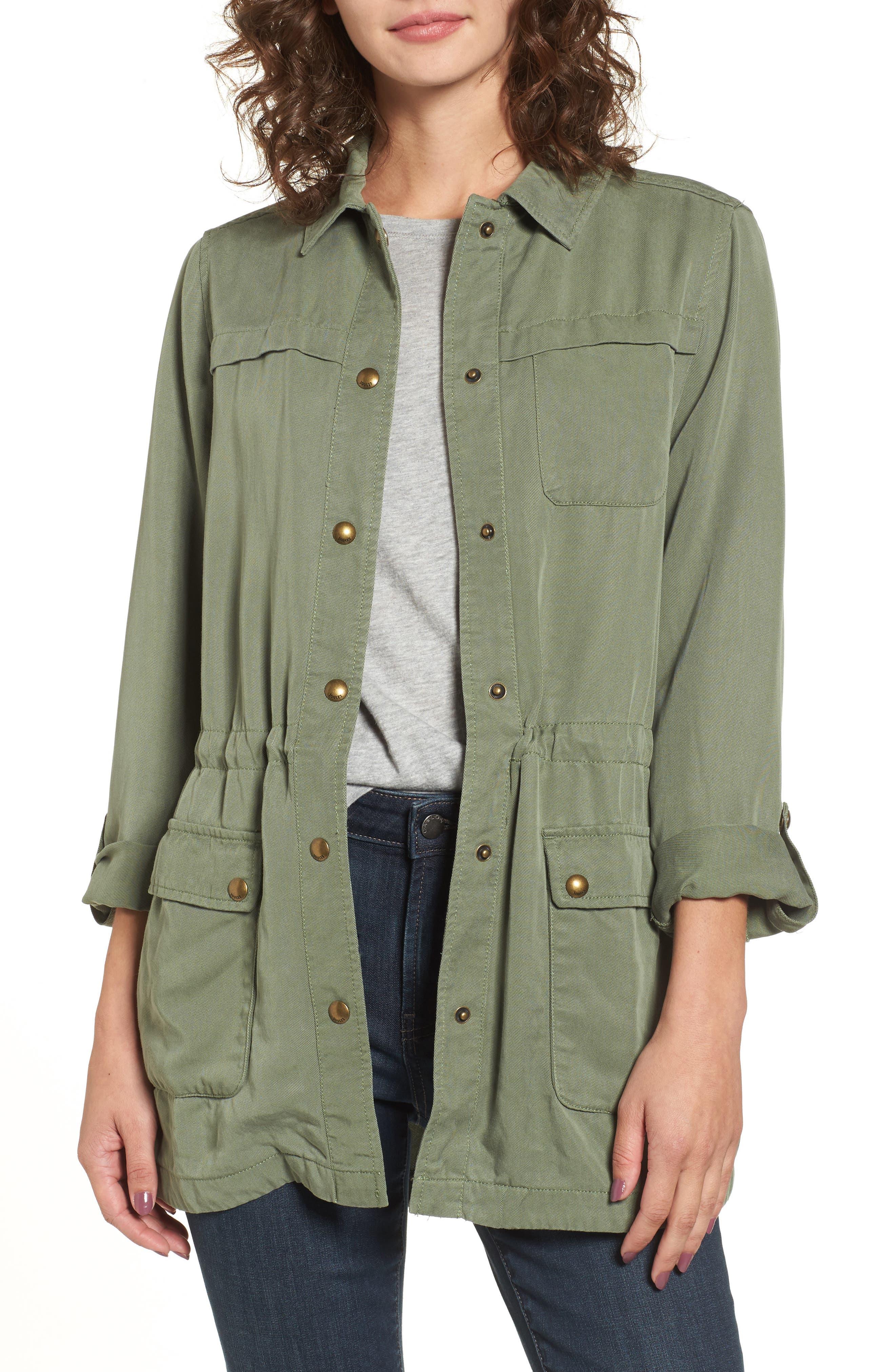Safari Jacket,                             Main thumbnail 1, color,                             Soft Khaki