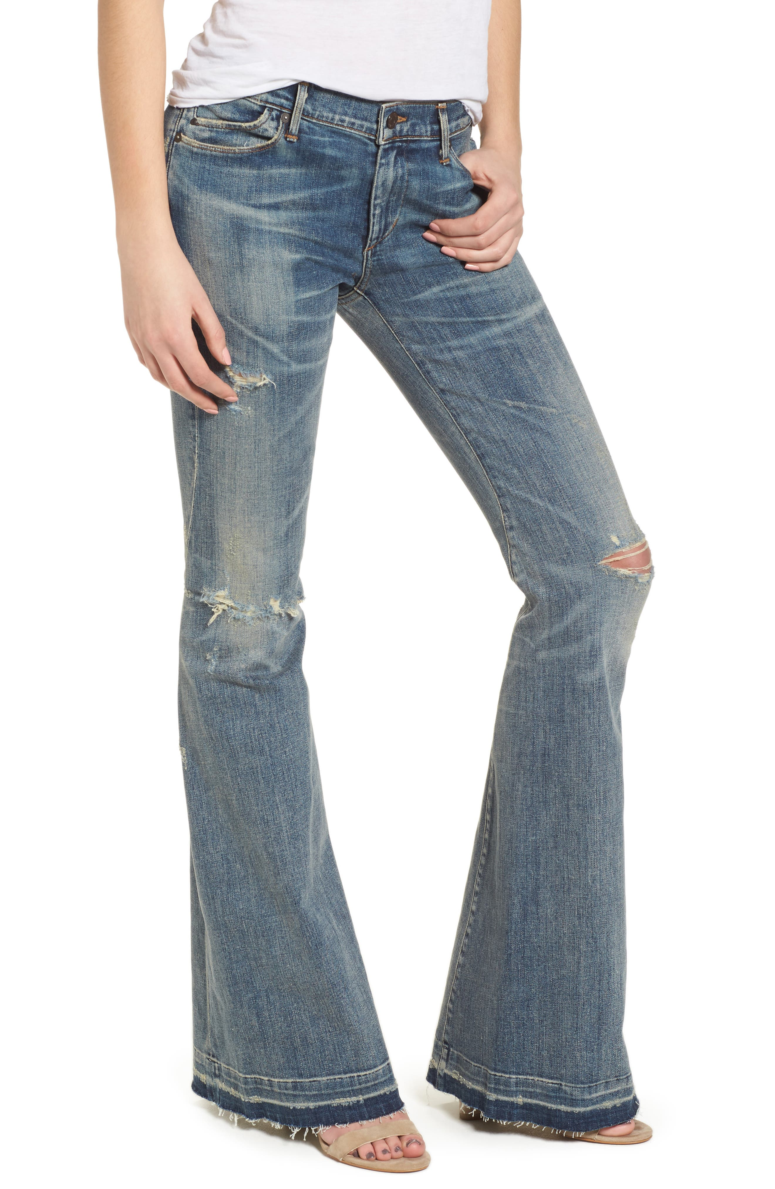 Charlie Flare Jeans,                         Main,                         color, Outpost