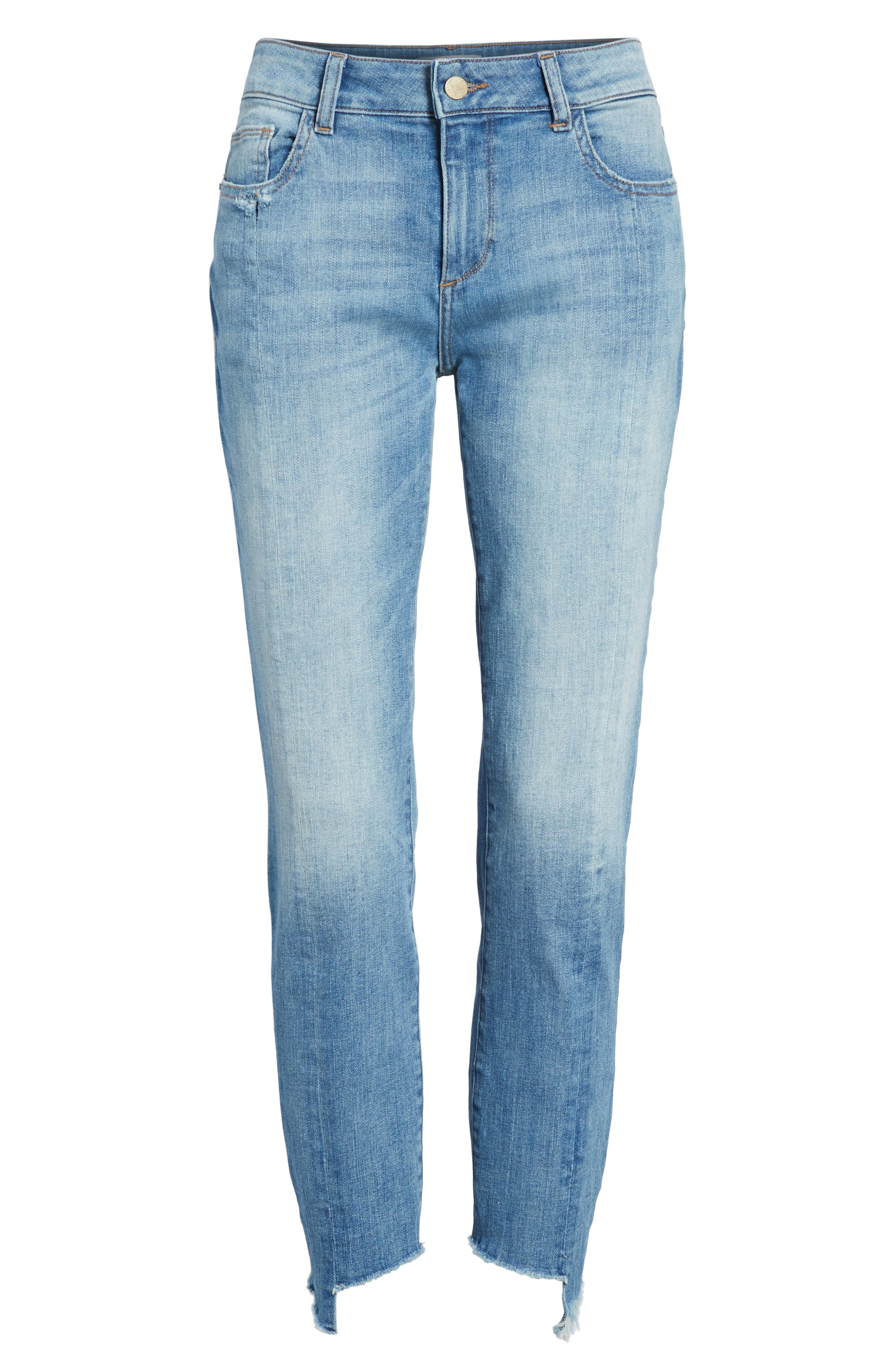 Florence Instasculpt Crop Skinny Jeans,                             Alternate thumbnail 7, color,                             New Town
