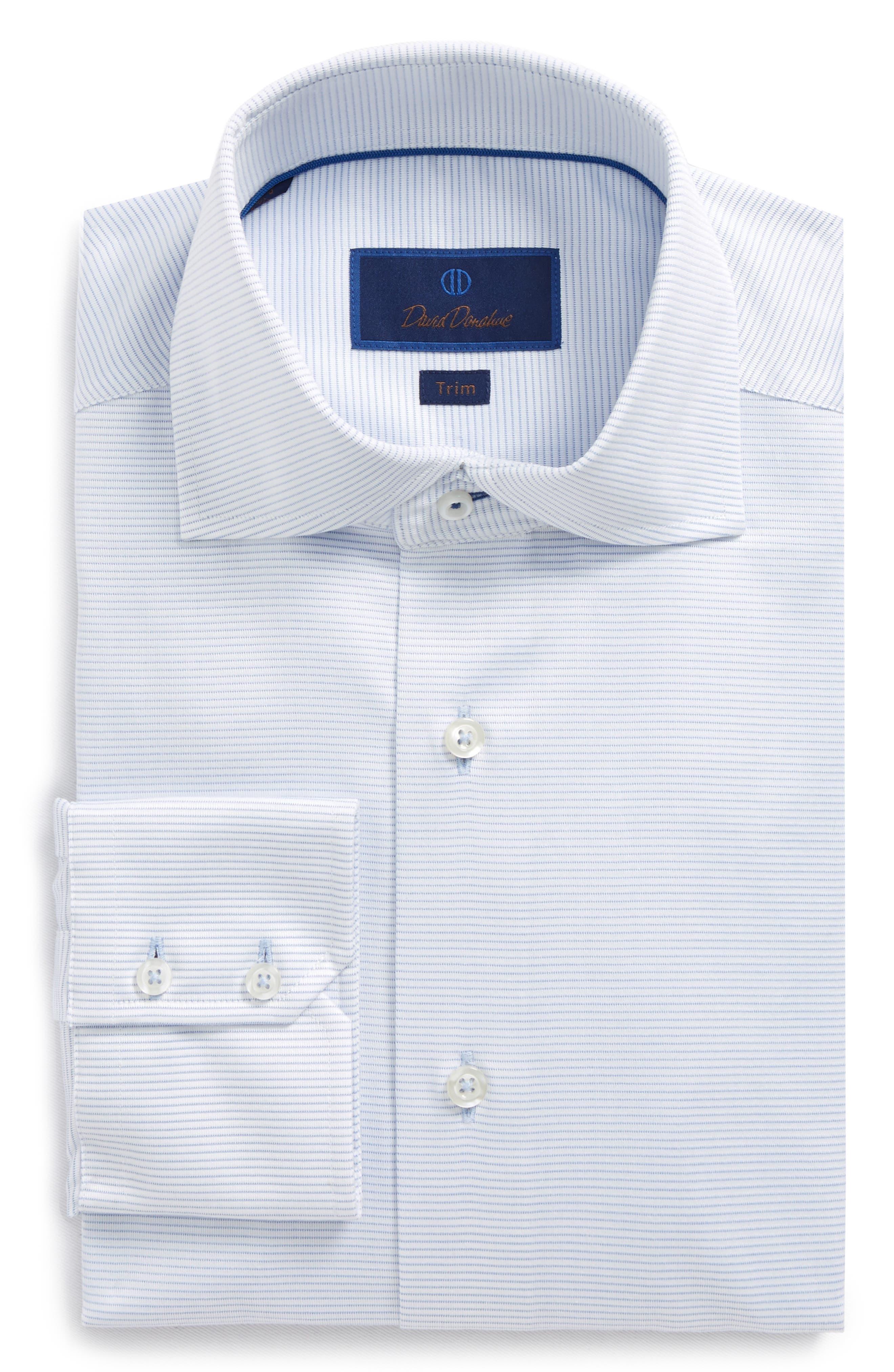 Trim Fit Textured Dress Shirt,                             Main thumbnail 1, color,                             Sky