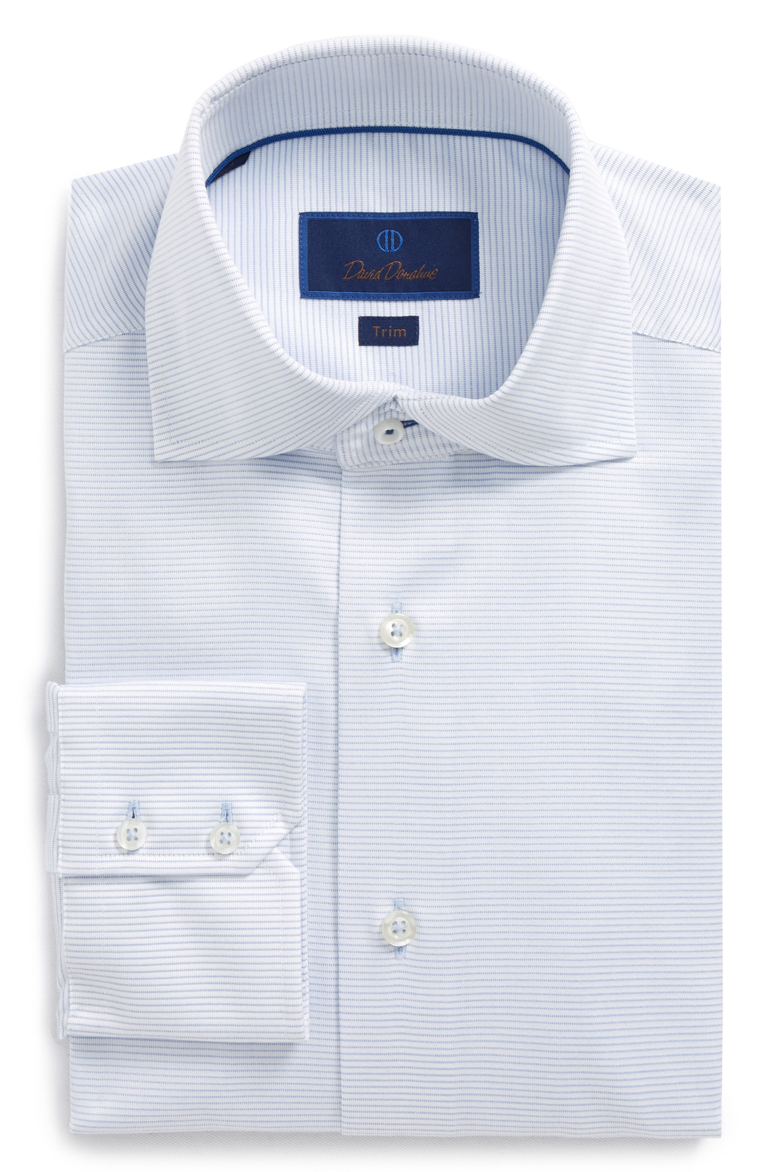 Trim Fit Textured Dress Shirt,                         Main,                         color, Sky