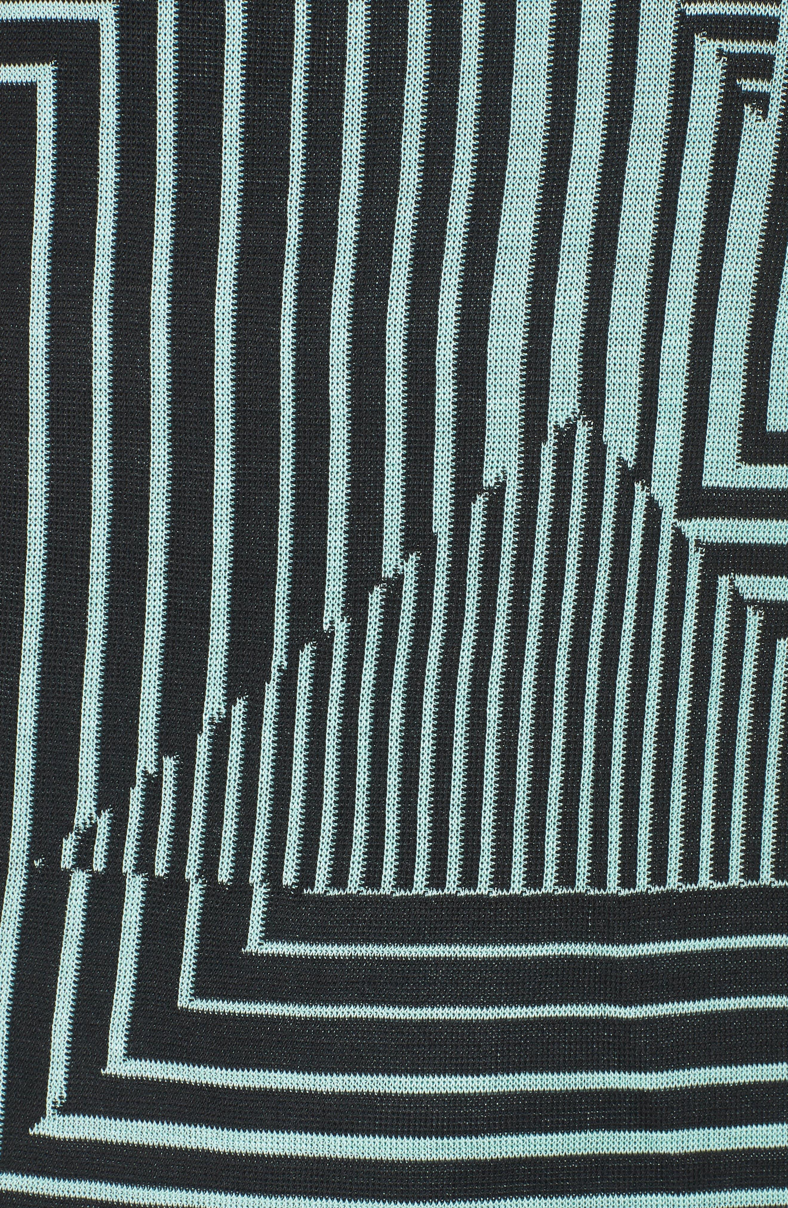 Geometric Striped Tank,                             Alternate thumbnail 5, color,                             Herb/ Black