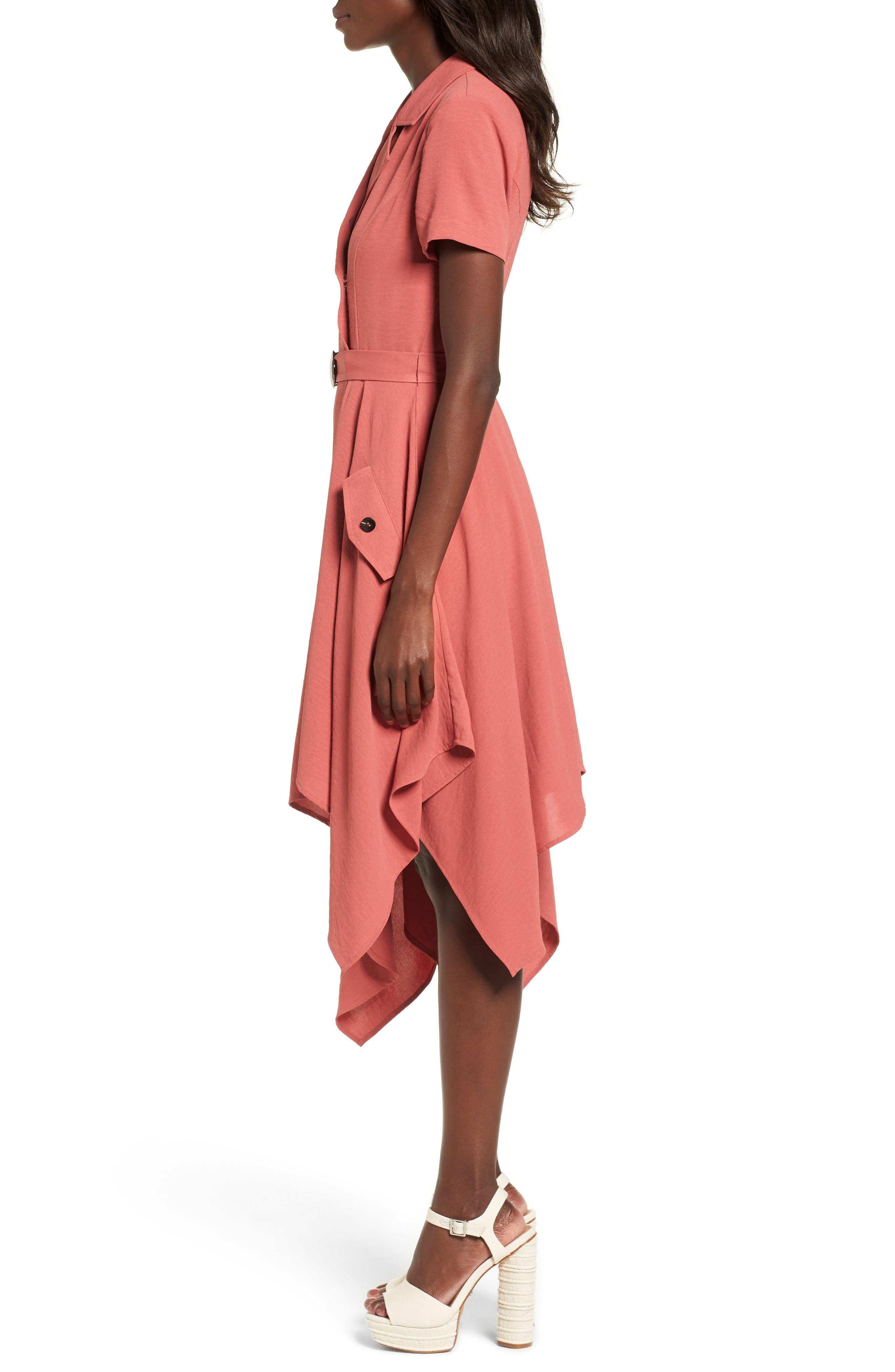 Chriselle x J.O.A. Asymmetrical Trench Dress,                             Alternate thumbnail 5, color,                             Patina