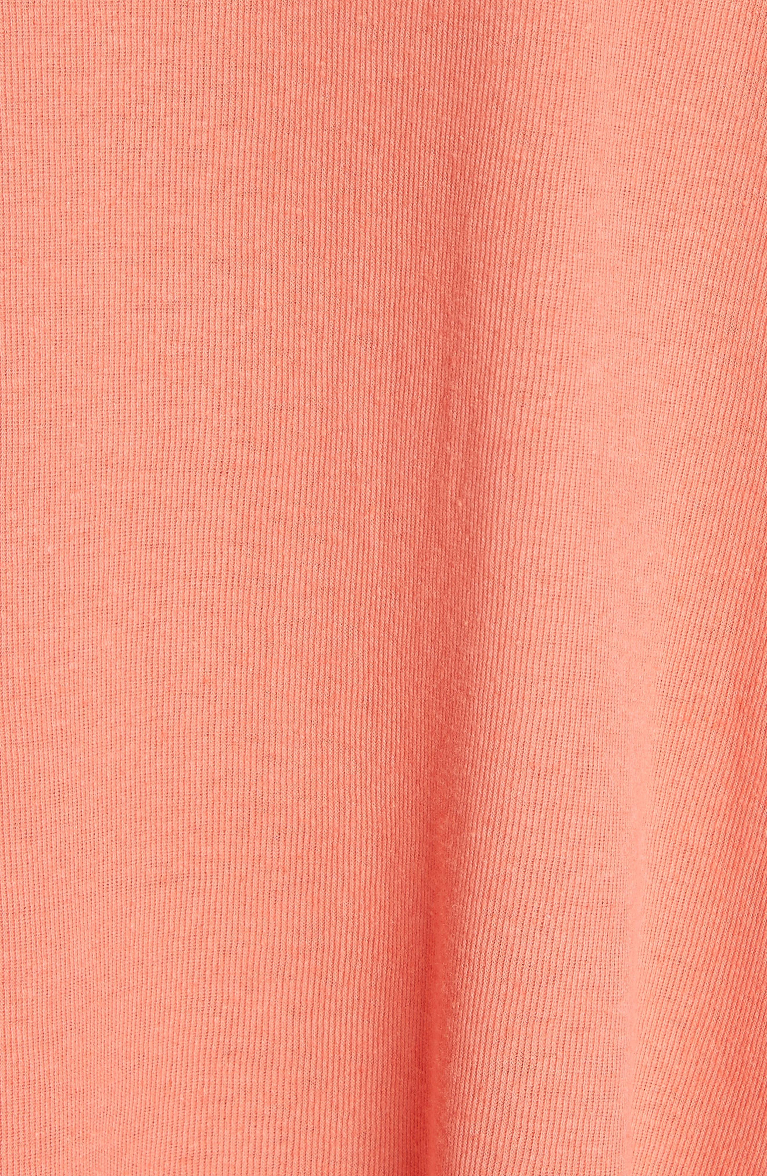 We the Free Star Henley Top,                             Alternate thumbnail 5, color,                             Coral