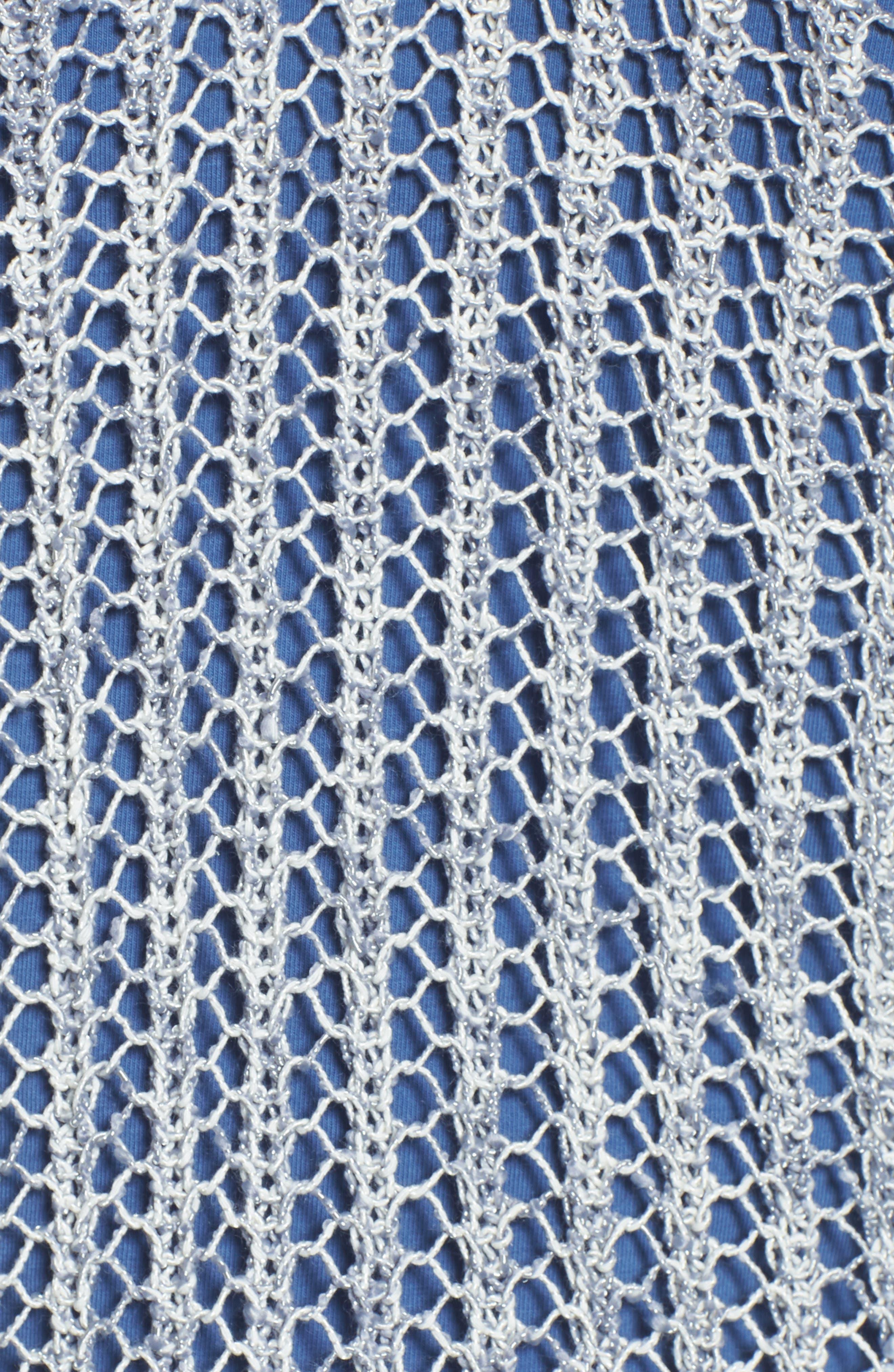 Open Stitch Sweater,                             Alternate thumbnail 5, color,                             Indigo Mix