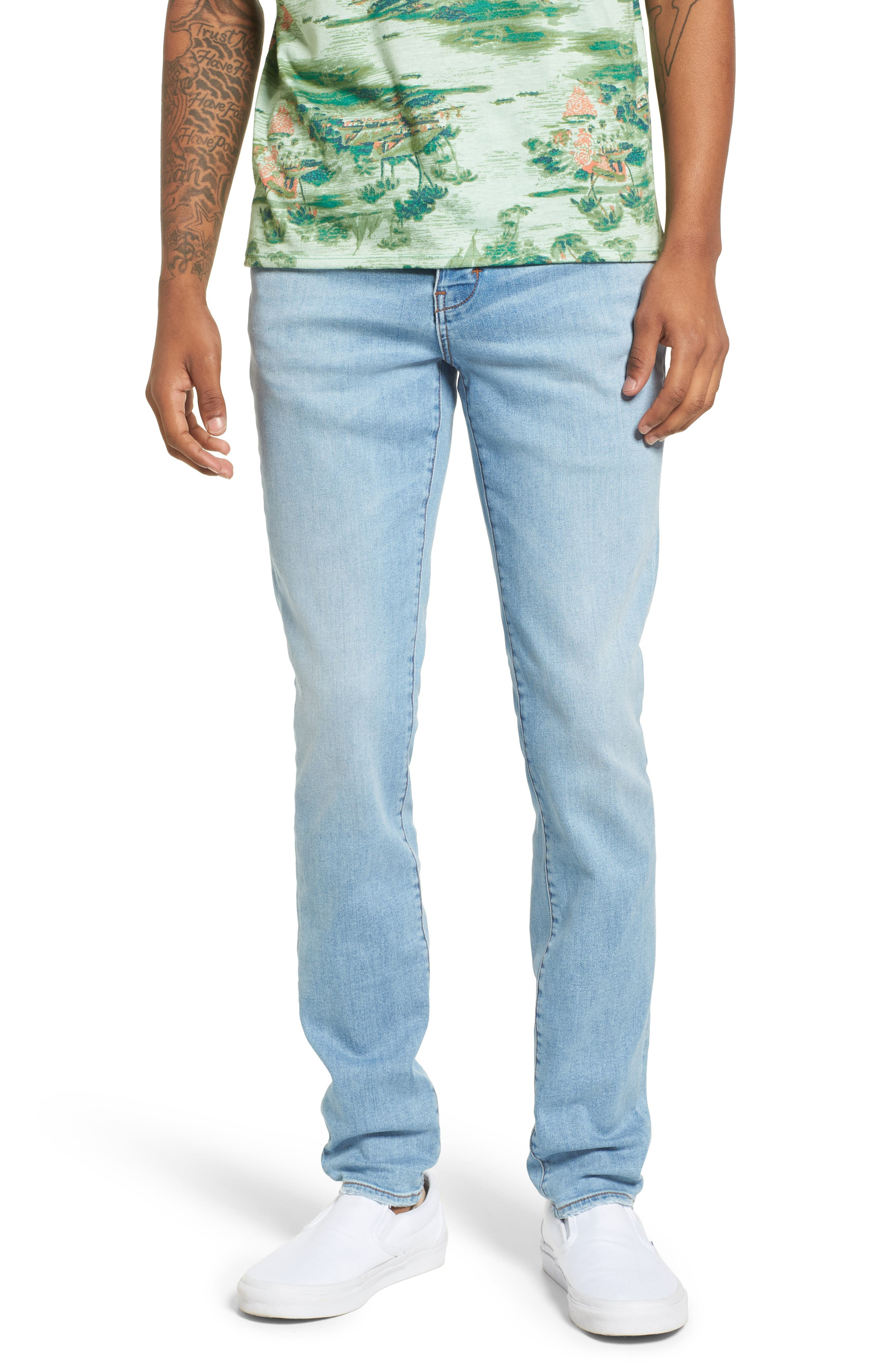Iggy Skinny Fit Jeans,                             Main thumbnail 1, color,                             Surf Bleach