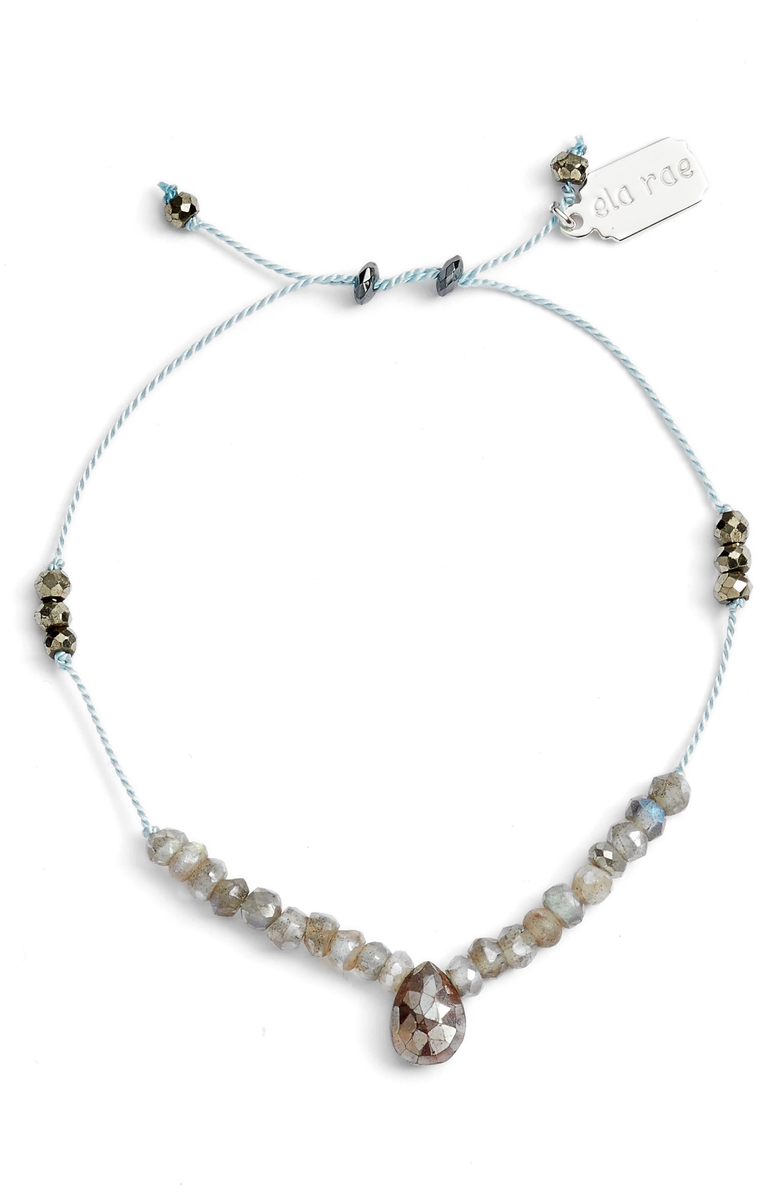 Sylvie Semiprecious Stone Bracelet,                             Main thumbnail 1, color,                             Aqua