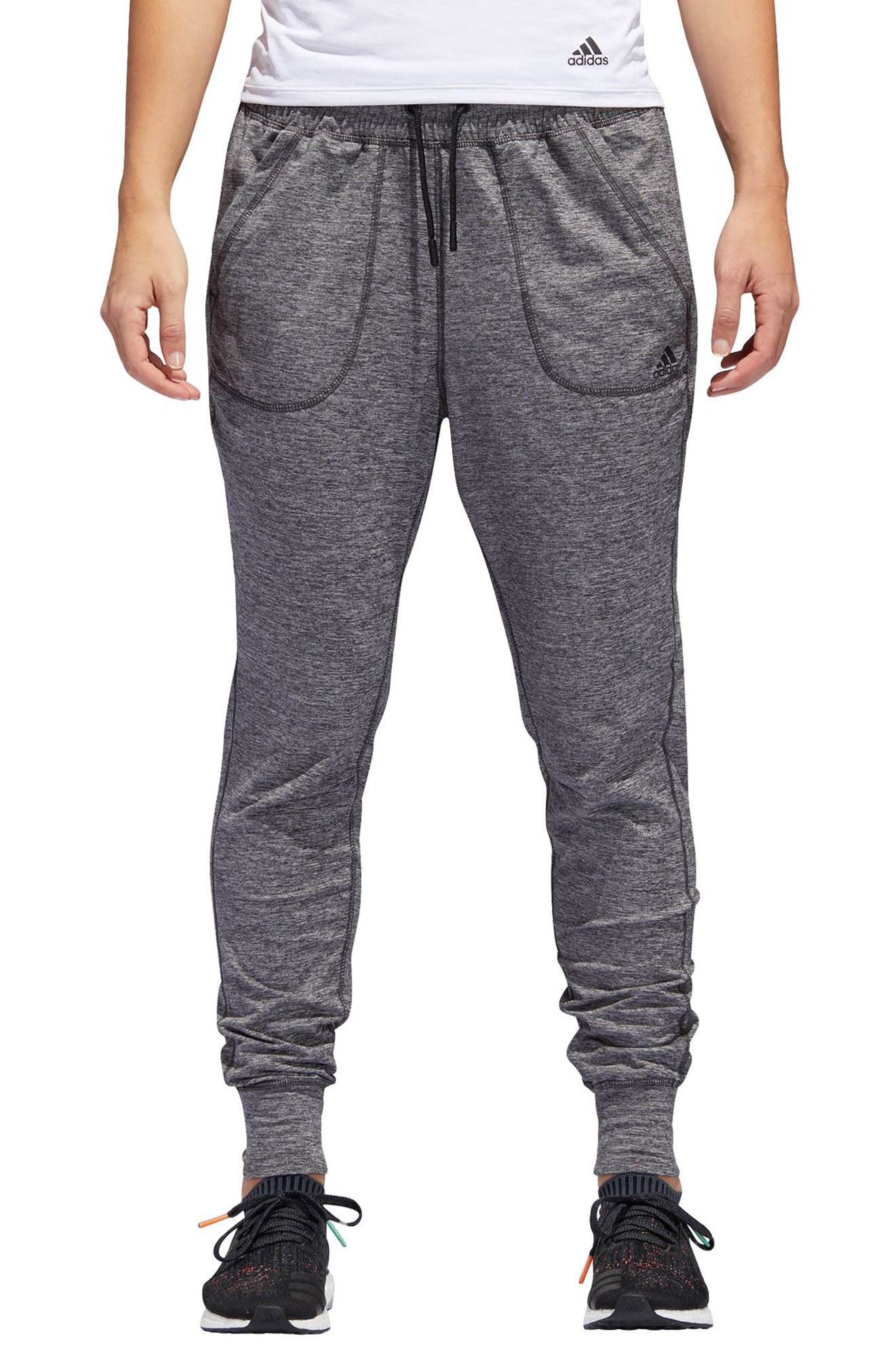 ID LBD Jogger Pants,                         Main,                         color, Black Melange