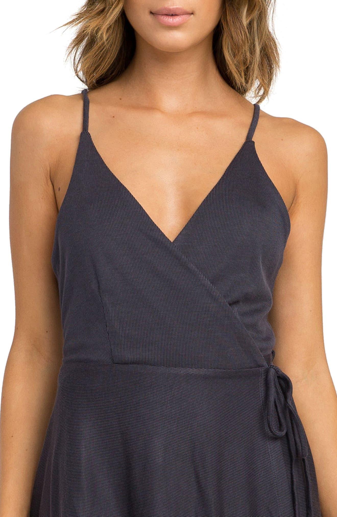 Kelso Wrap Dress,                             Alternate thumbnail 4, color,                             Black