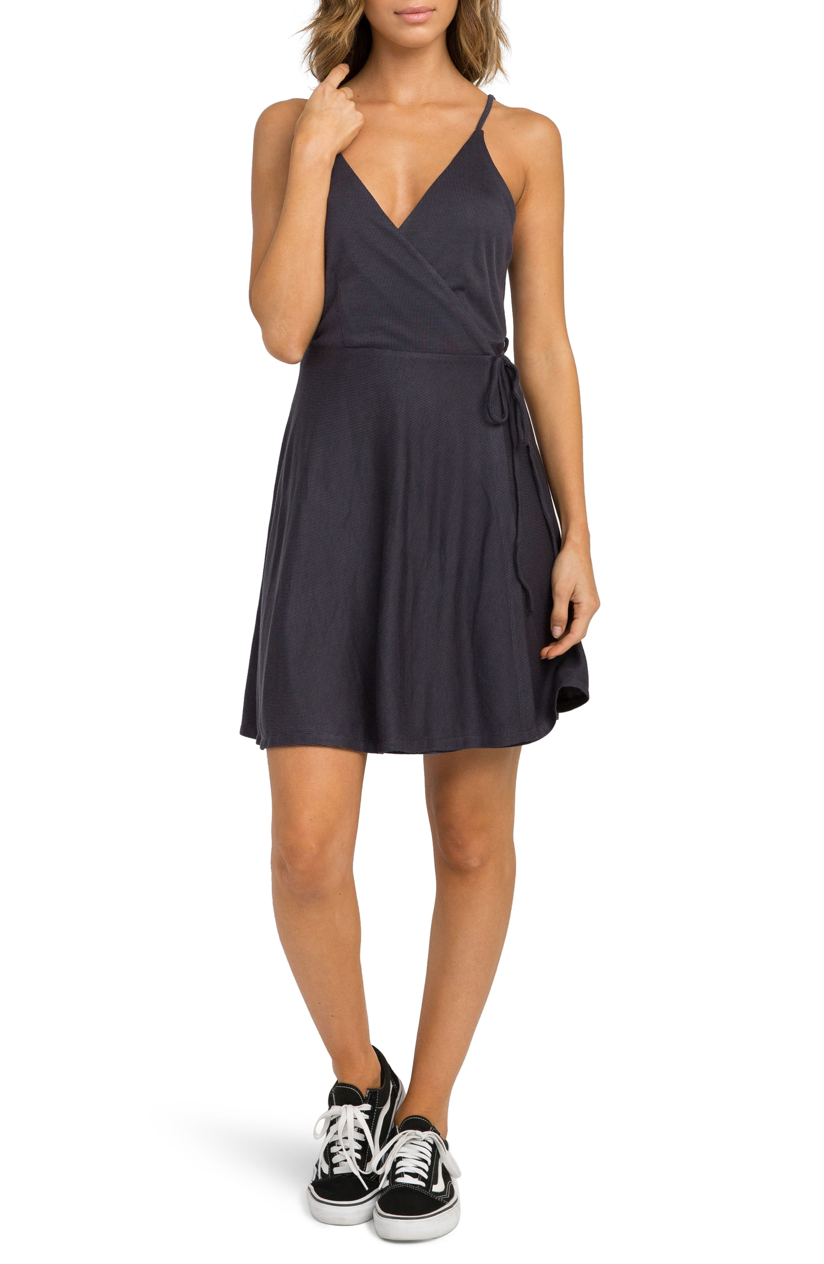 Kelso Wrap Dress,                             Main thumbnail 1, color,                             Black