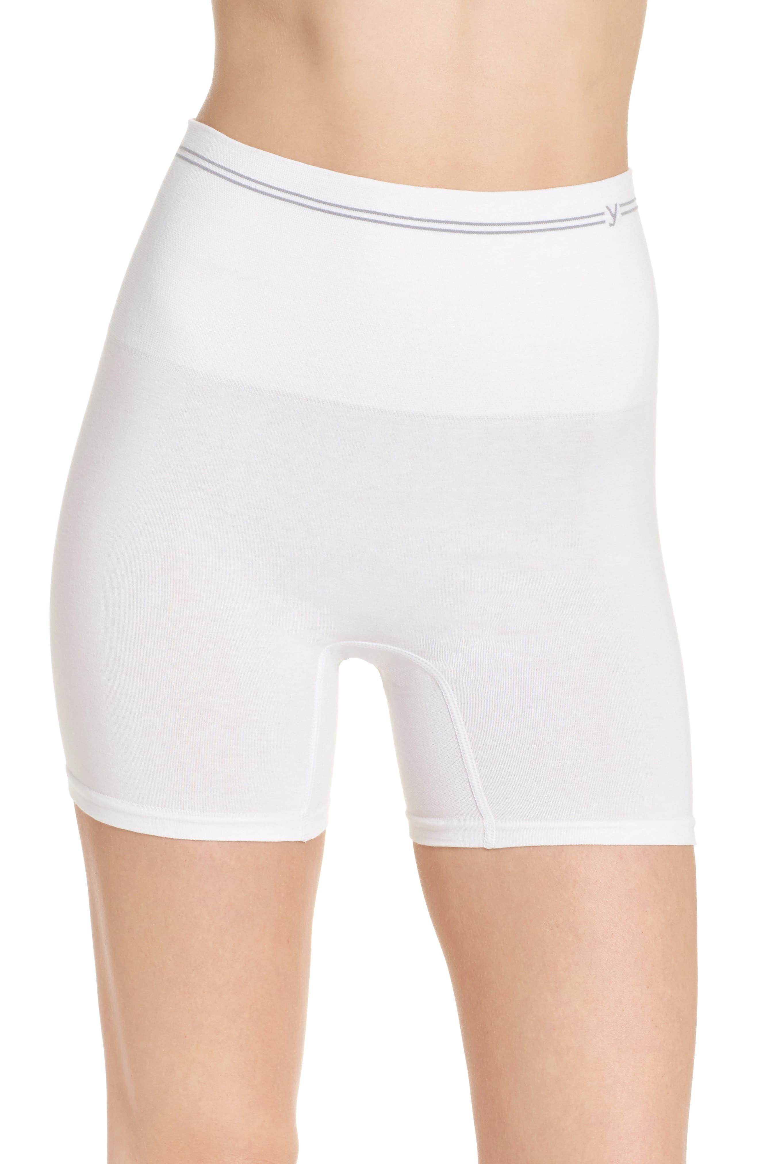 Seamless Shaping Shorts,                             Main thumbnail 1, color,                             White