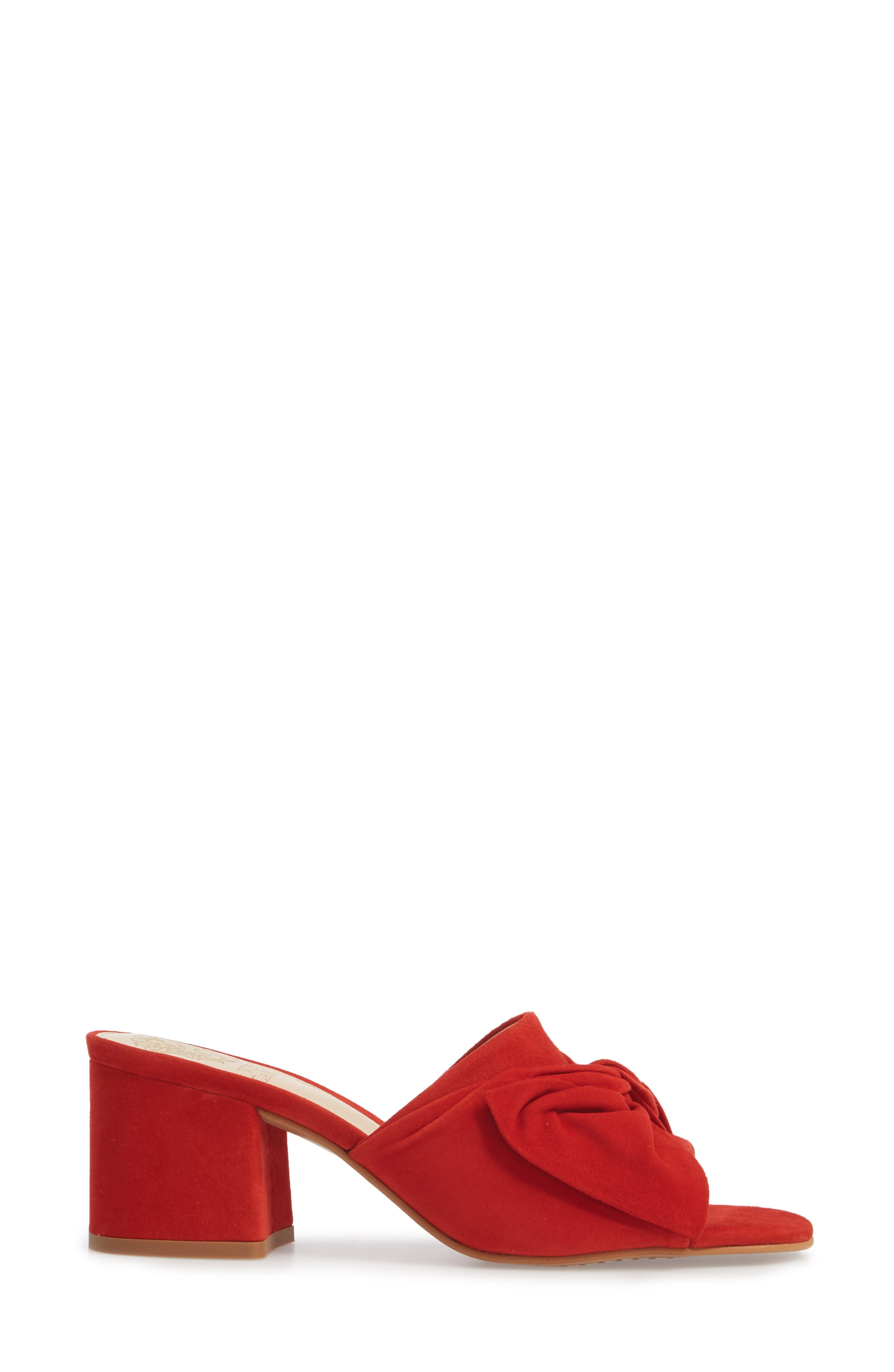 Sharrey Sandal,                             Alternate thumbnail 3, color,                             Red Hot Rio Suede