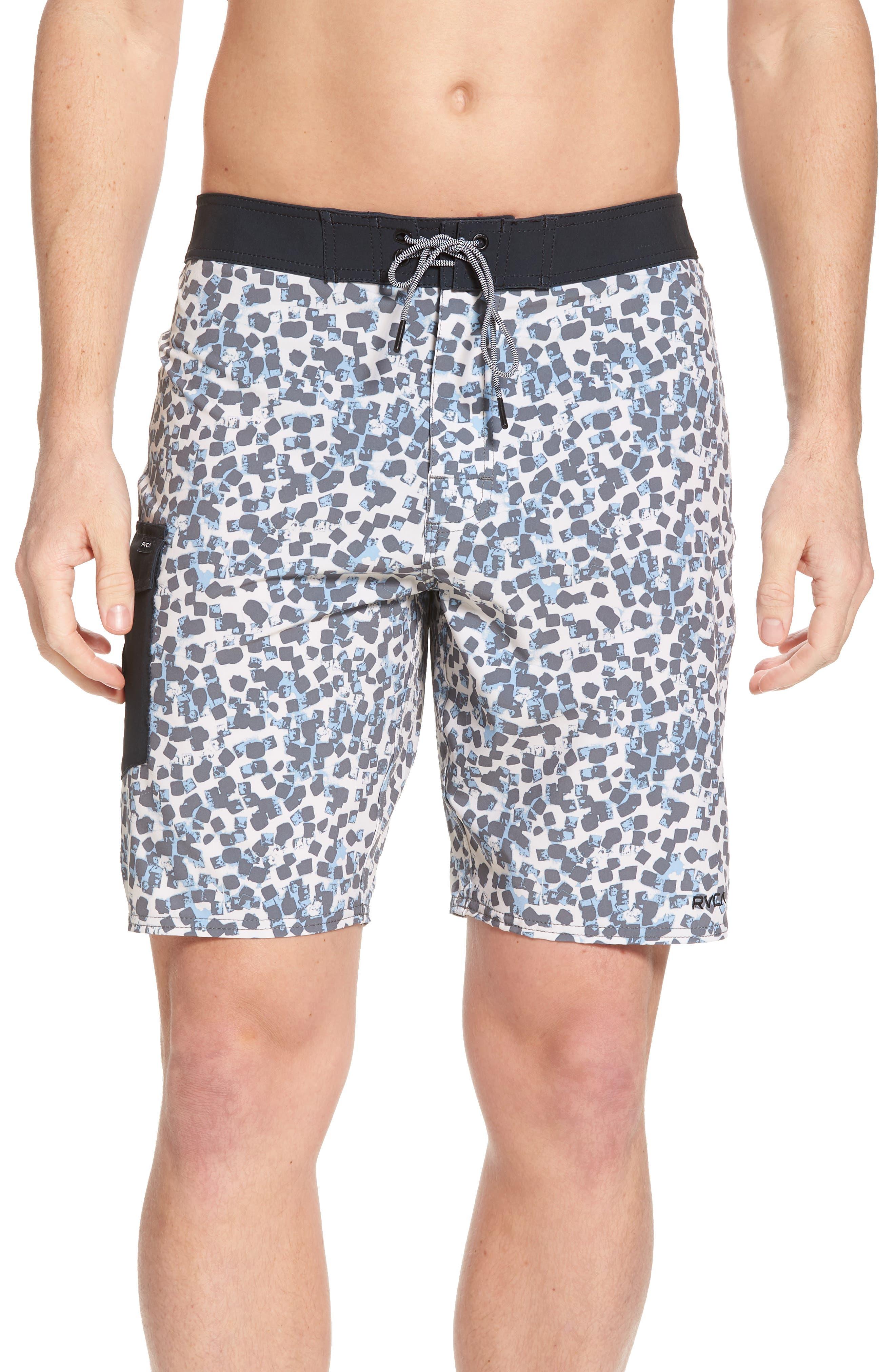 Barrow Board Shorts,                         Main,                         color, Silver Bleach