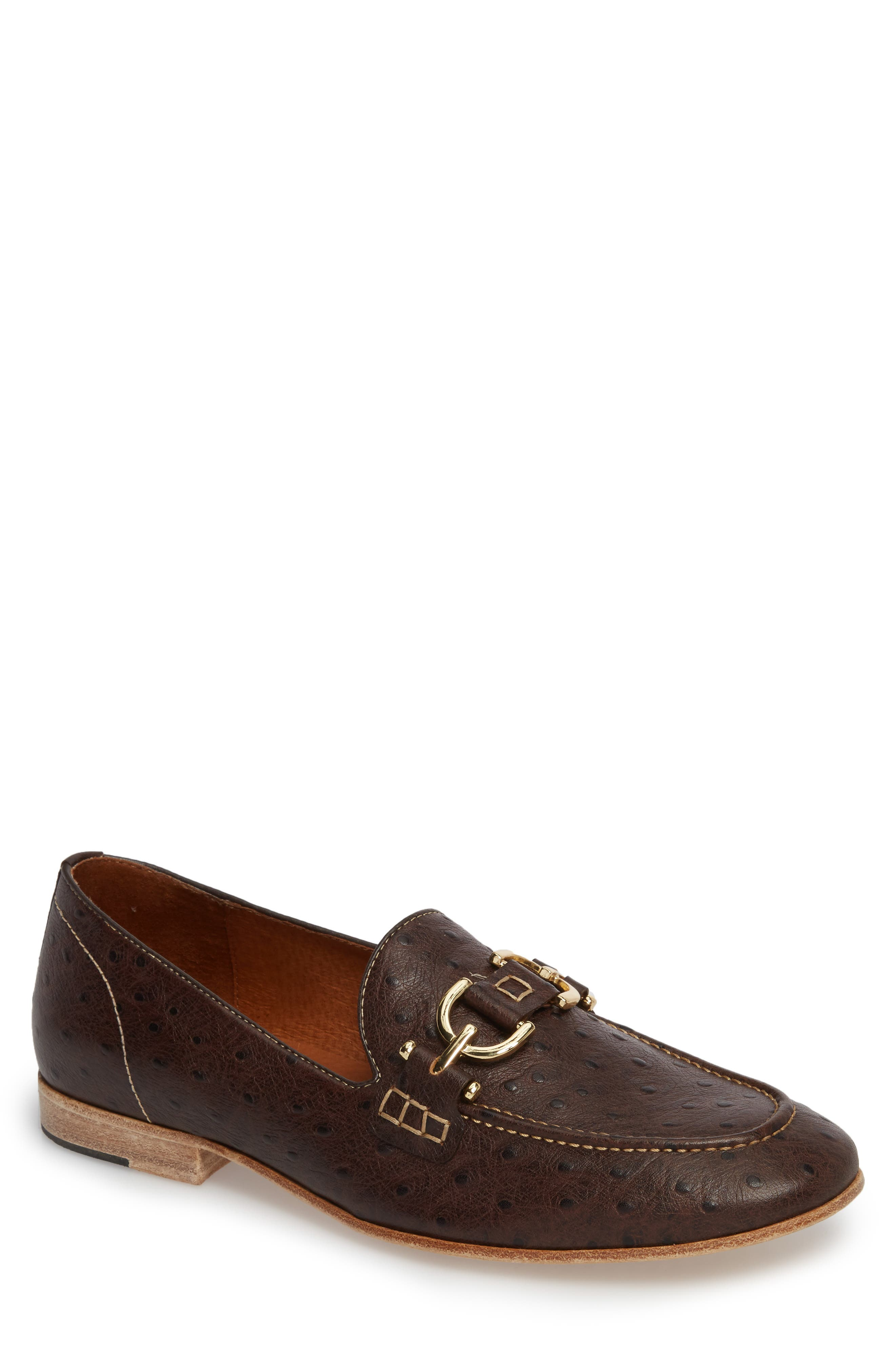 Moritz Apron Toe Bit Loafer,                             Main thumbnail 1, color,                             Brown Leather