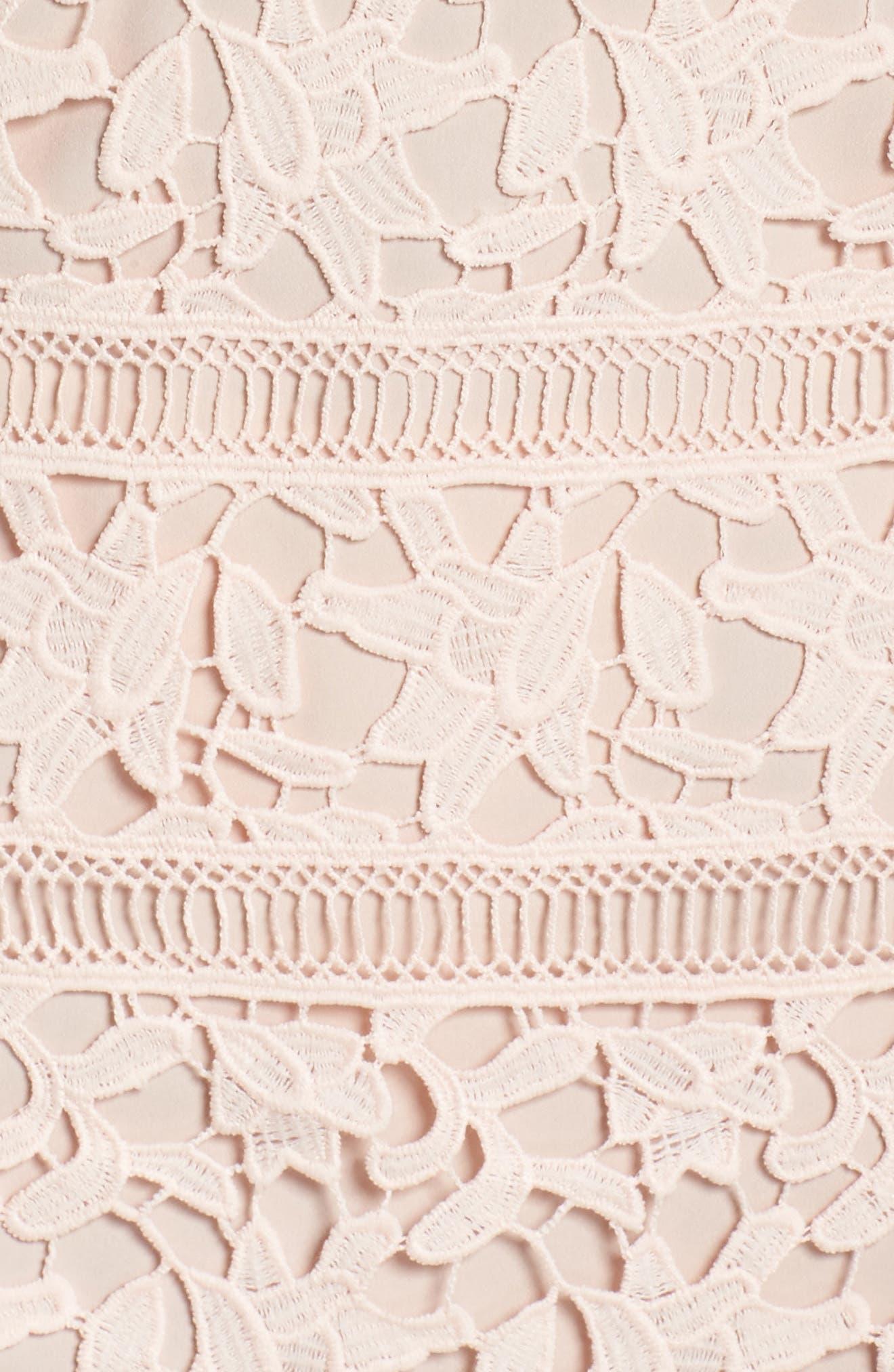 Crochet Overlay Dress,                             Alternate thumbnail 11, color,                             Blush