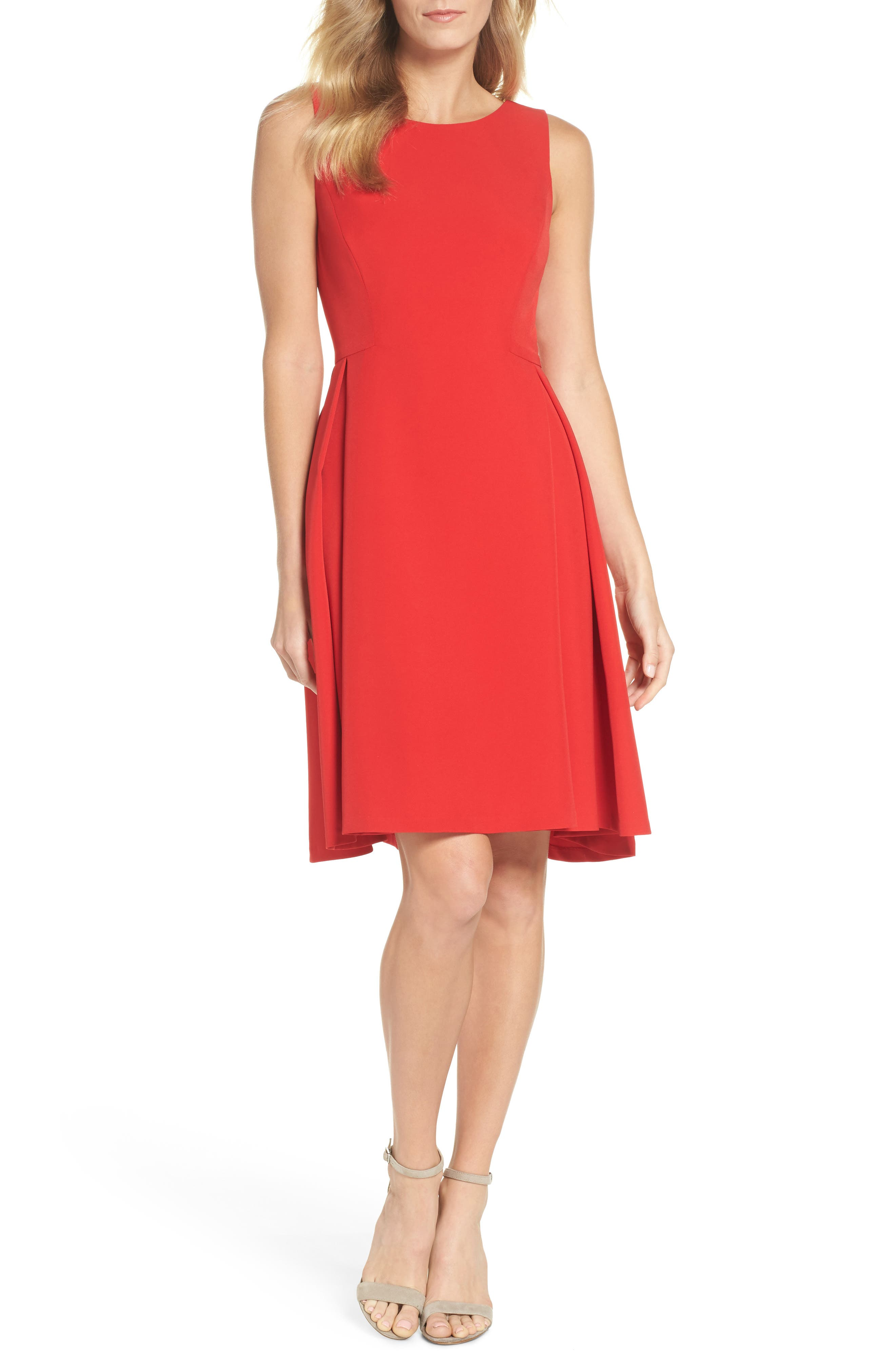 Maggy London Crepe Fit & Flare Dress (Regular & Petite)