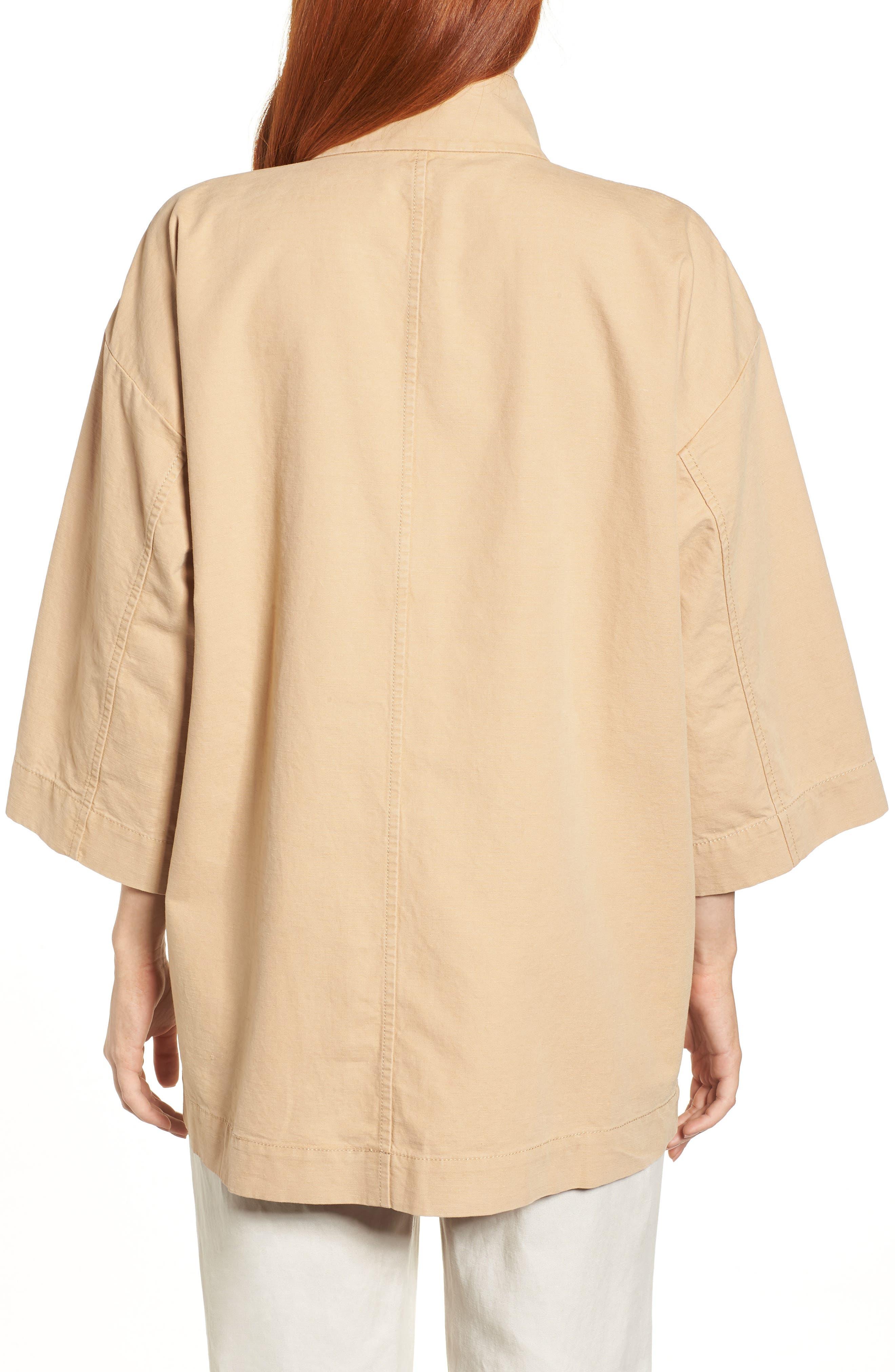 Organic Cotton & Hemp Jacket,                             Alternate thumbnail 2, color,                             Wheat