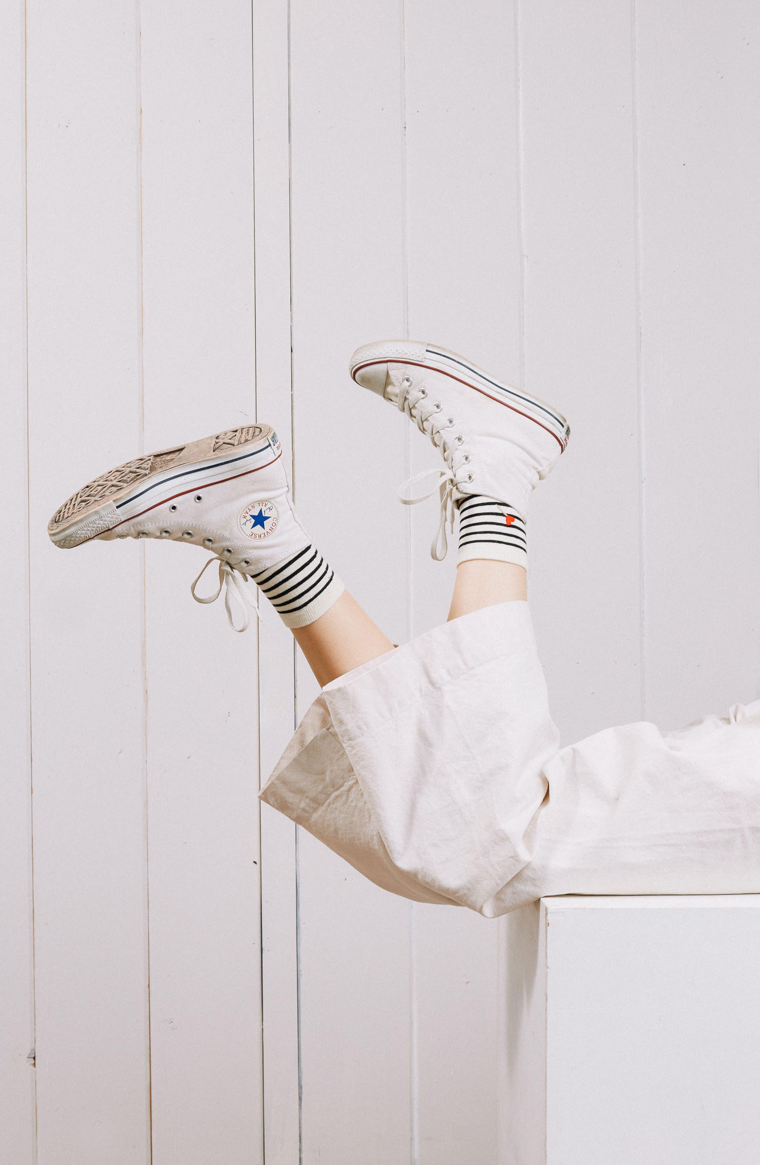 Tasty Ankle Socks,                             Alternate thumbnail 2, color,                             Black Ivory