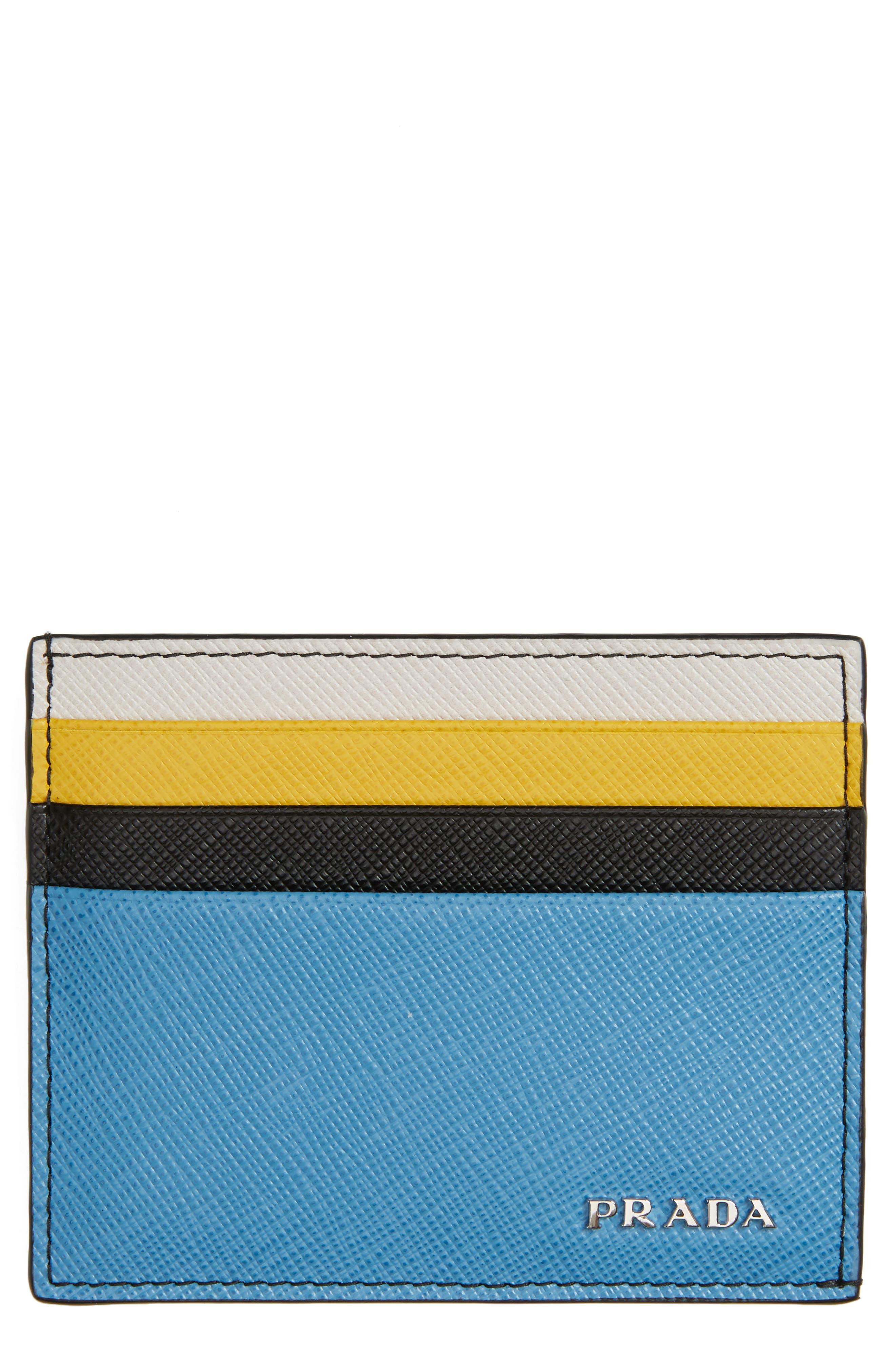 Prada Arrow Leather Card Case