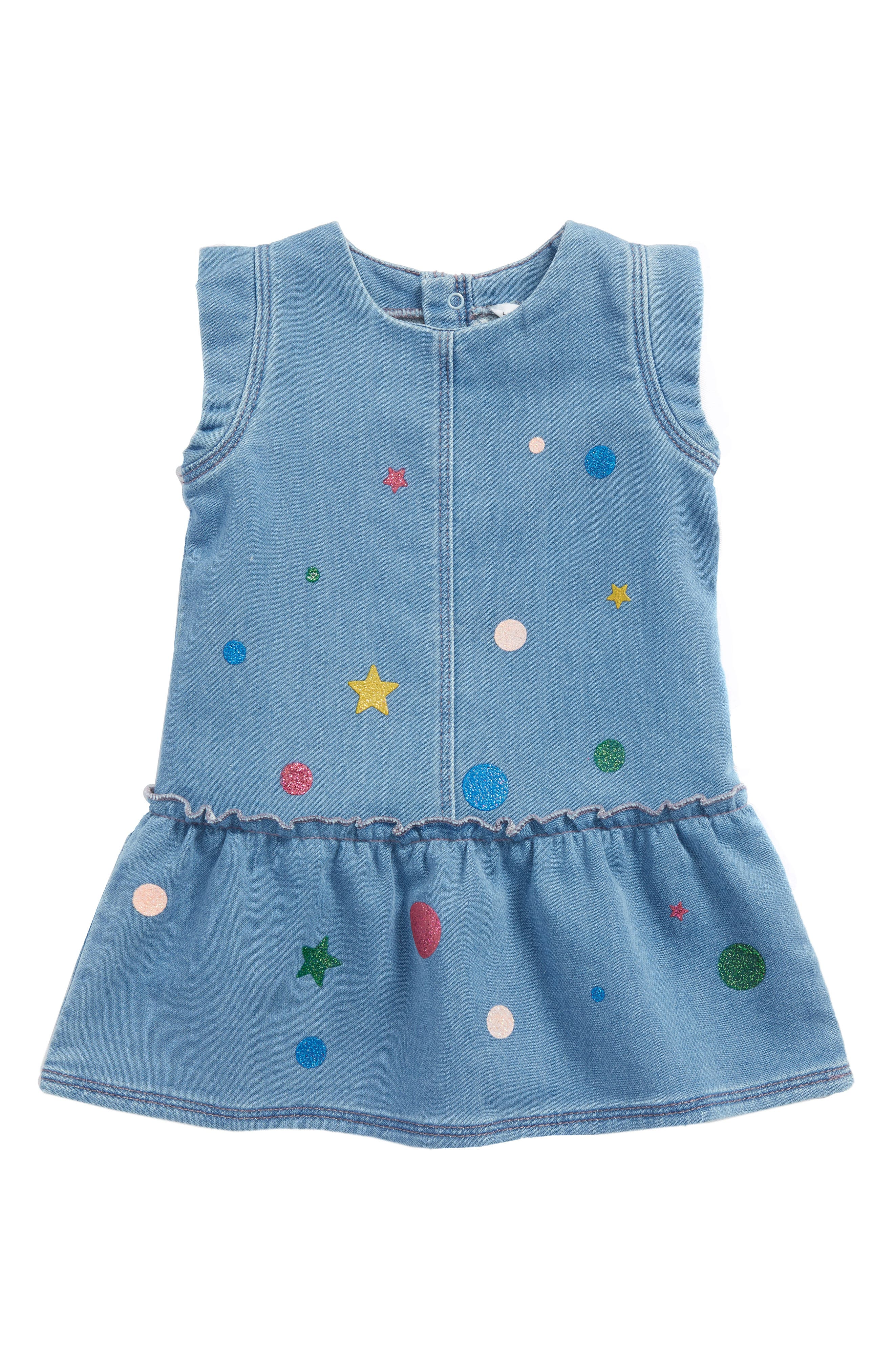 LITTLE MARC JACOBS Chambray Dress (Baby Girls)