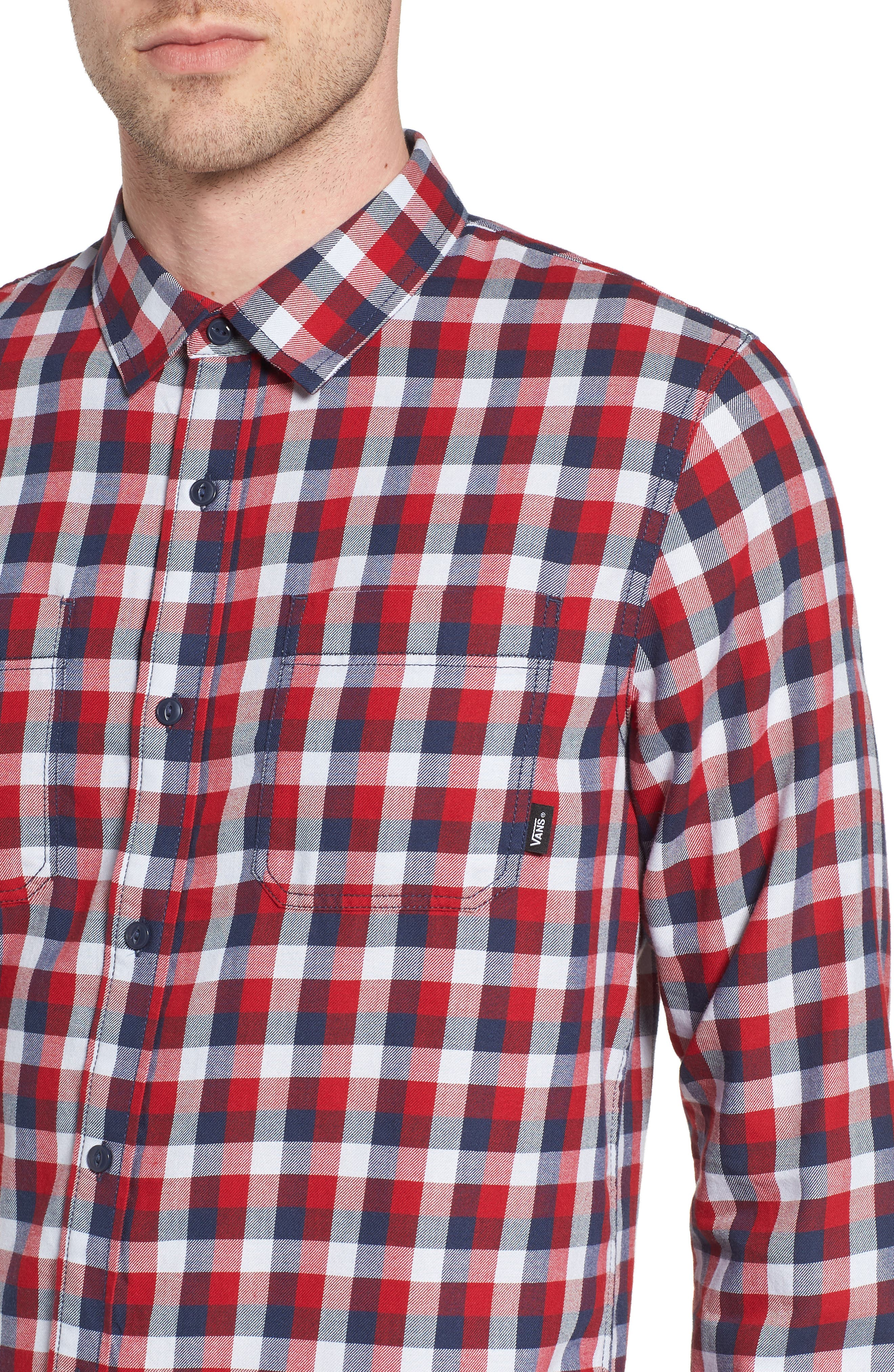 Alternate Image 4  - Vans Alameda II Plaid Flannel Shirt