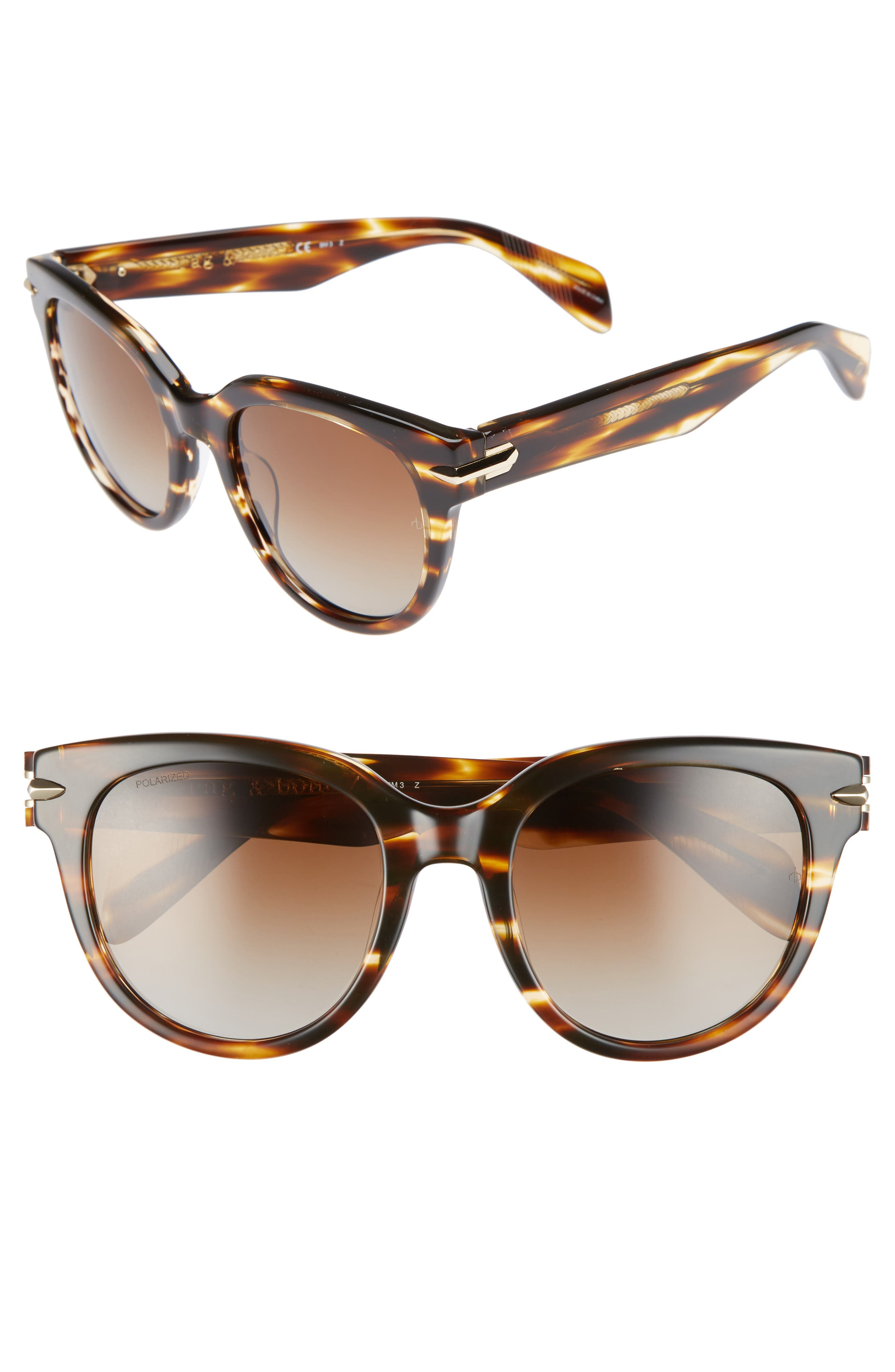 54mm Cat Eye Sunglasses,                             Main thumbnail 1, color,                             Dark Havana
