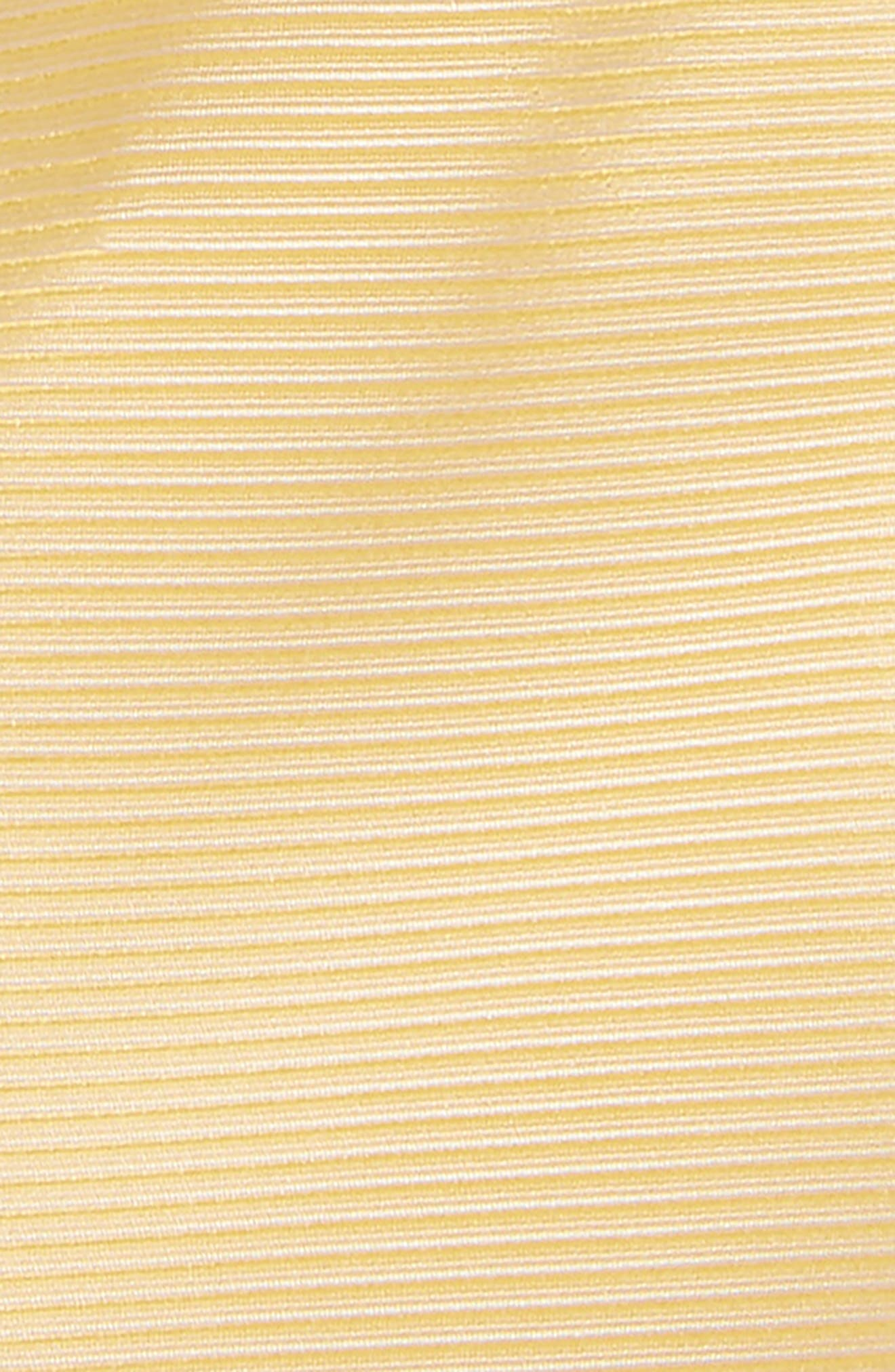 Pinstripe Solid Silk Tie,                             Alternate thumbnail 2, color,                             Yellow