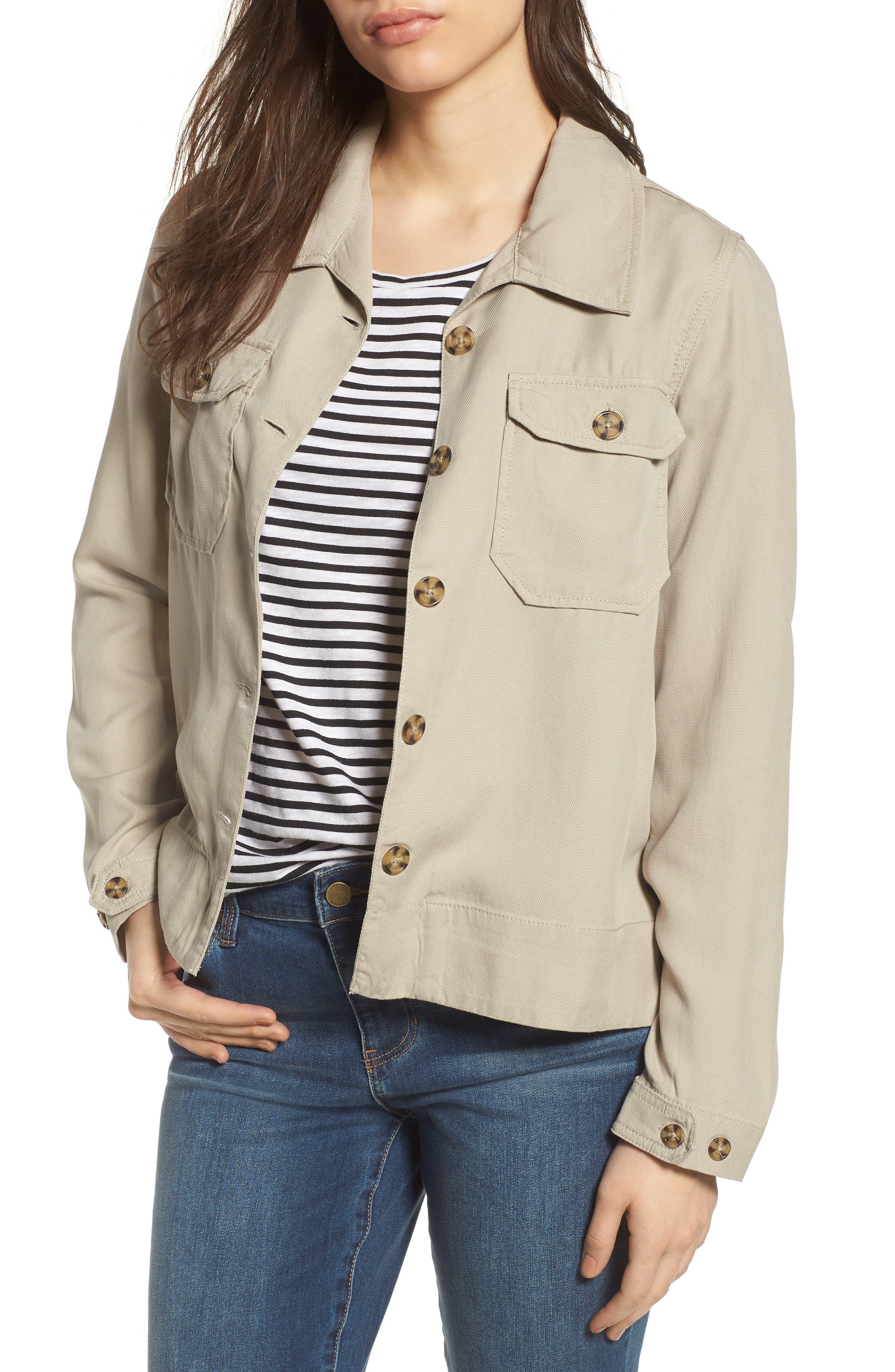 Flyaway Shirt Jacket,                             Main thumbnail 1, color,                             Chateau Gray