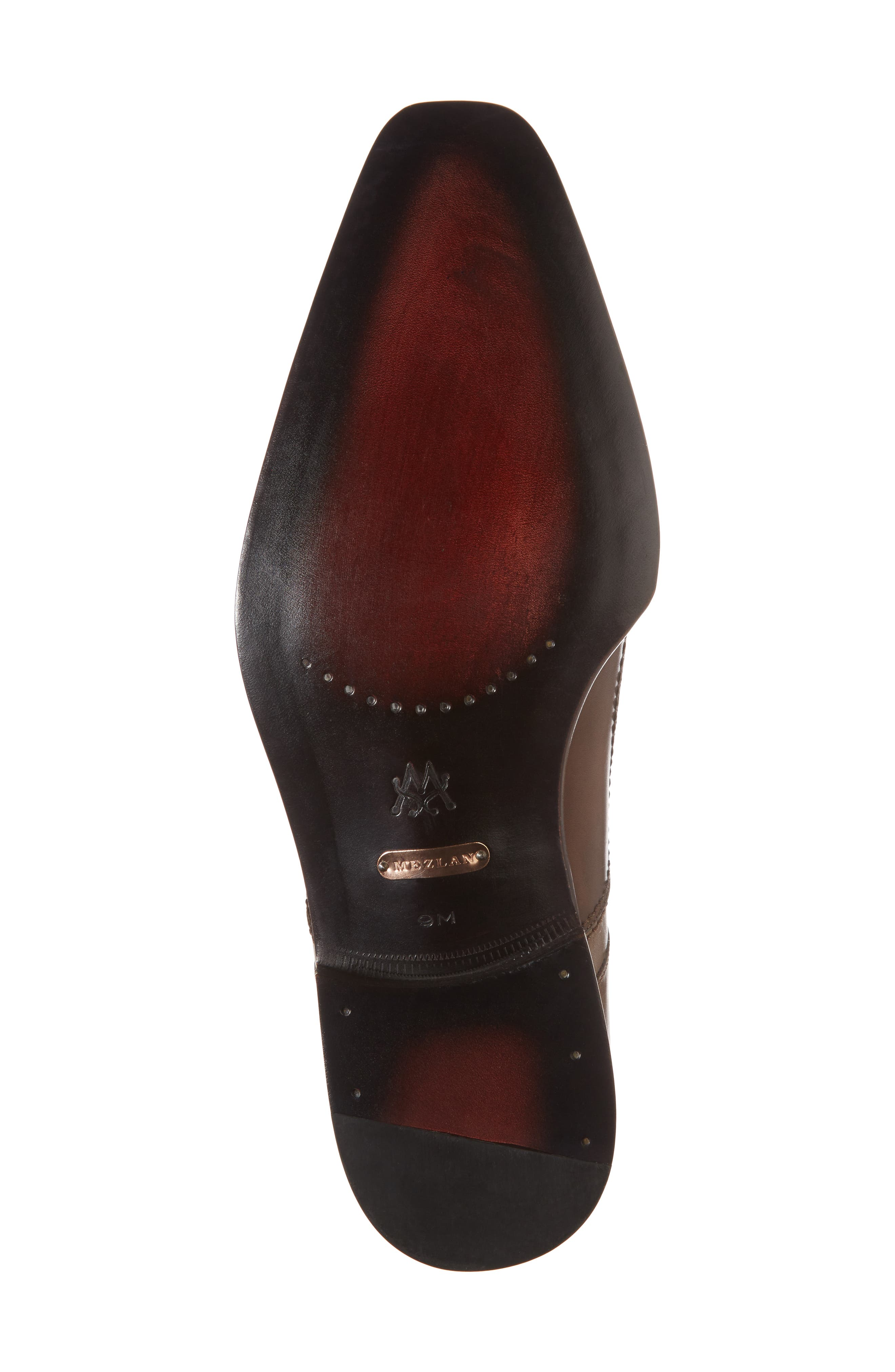 Magno Double Monk Strap Shoe,                             Alternate thumbnail 6, color,                             Brown Leather