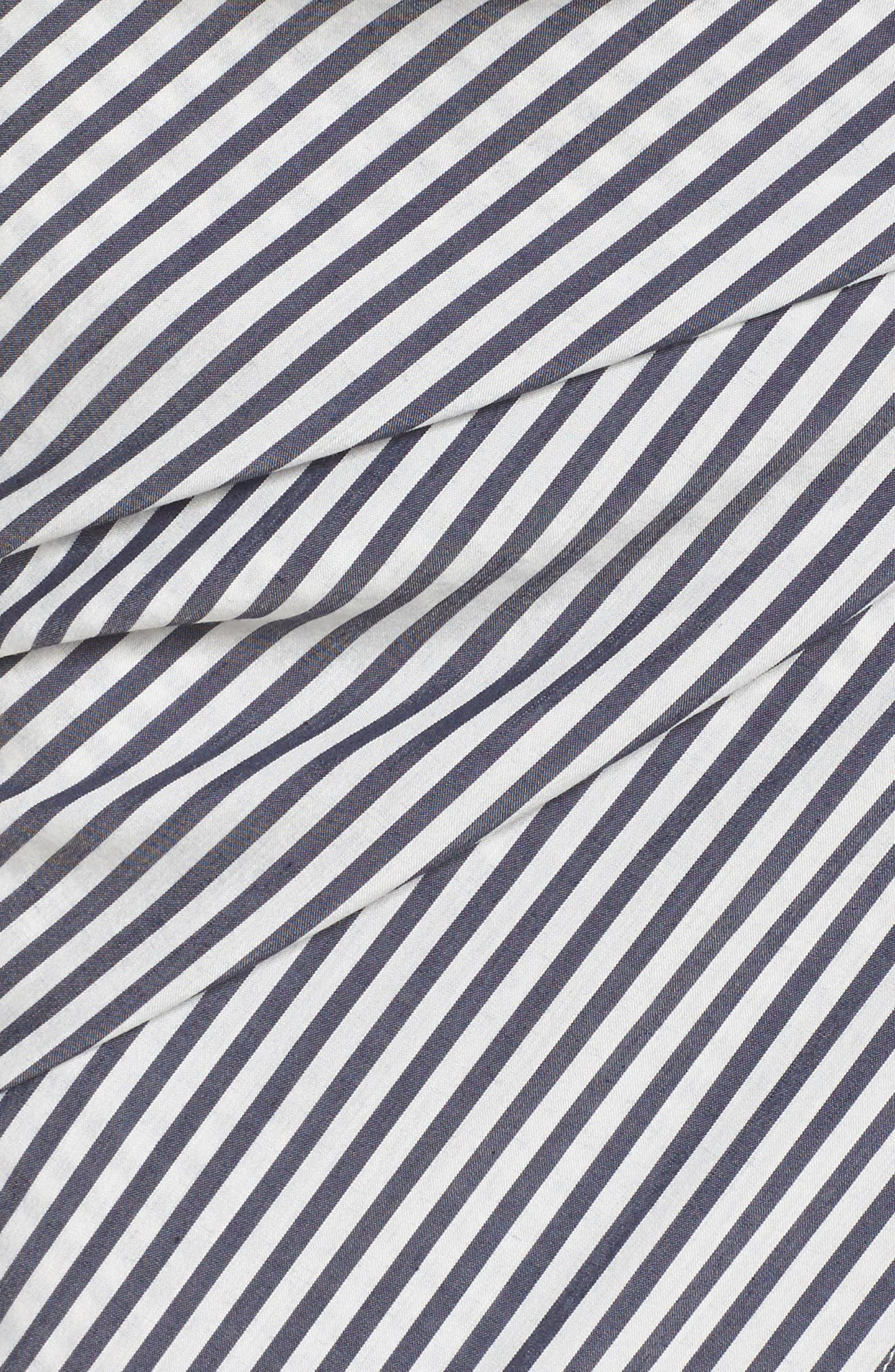 Cocktails Please Stripe Two-Piece Dress,                             Alternate thumbnail 5, color,                             Navy/ White Mini Stripe