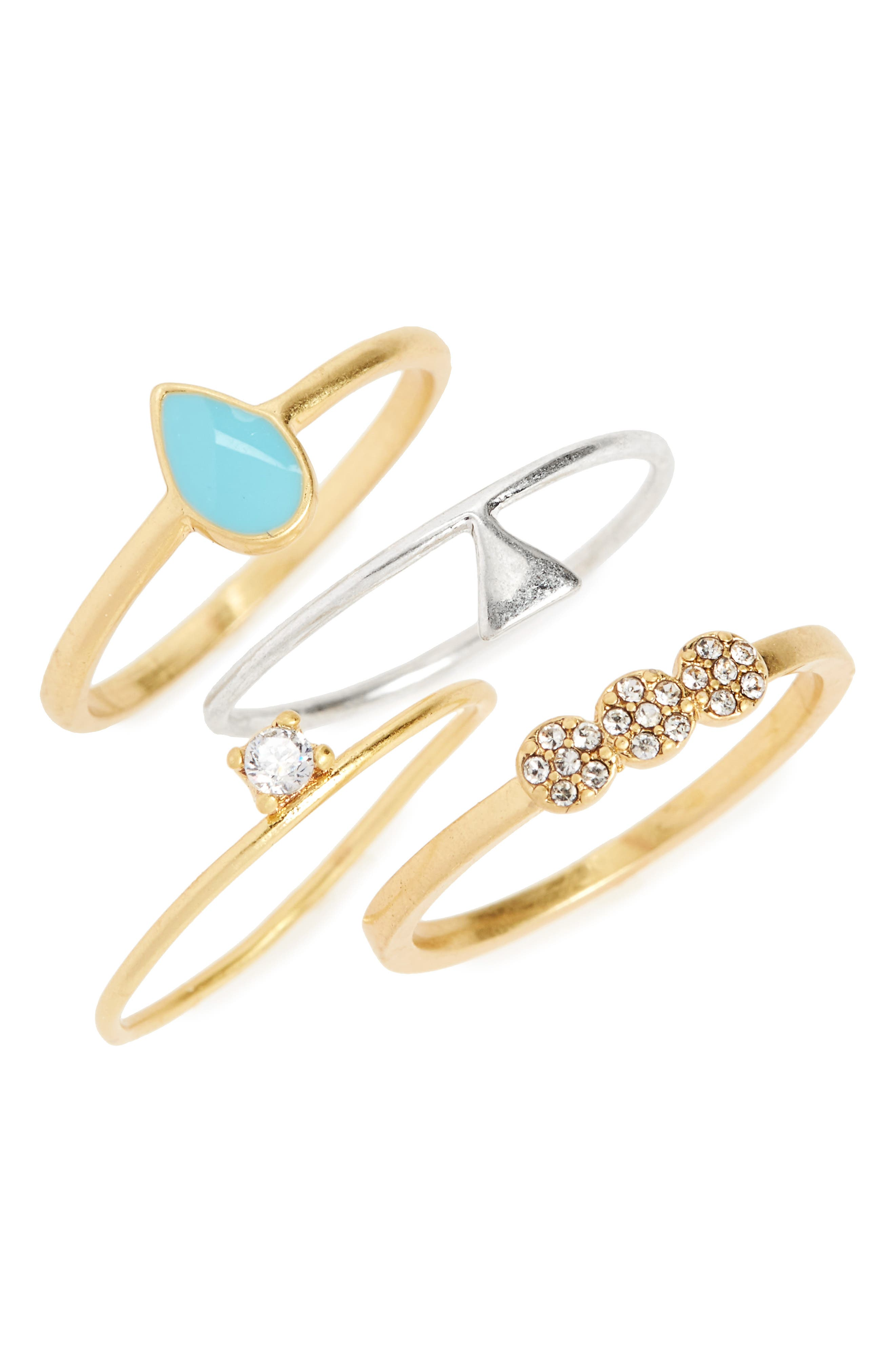 Madewell Set of 4 Stack Rings
