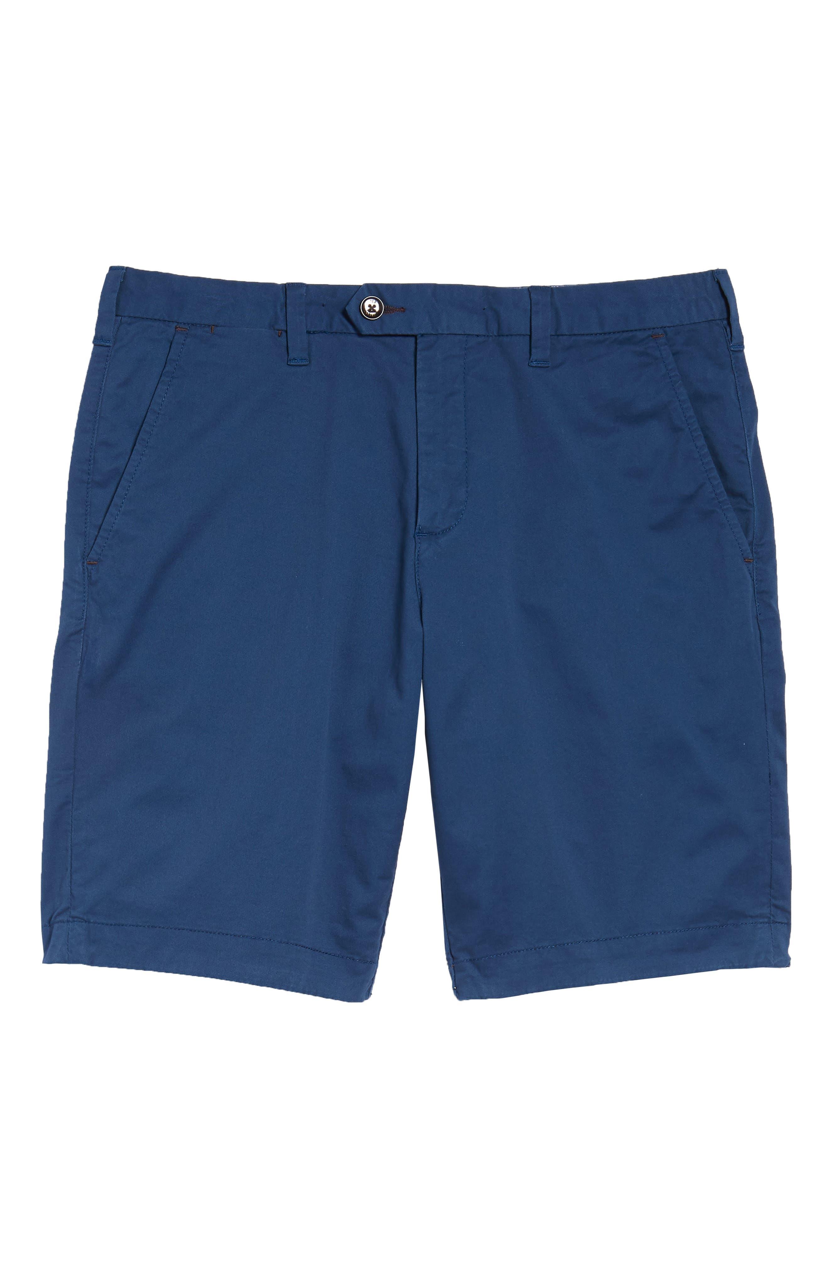 Proshor Slim Fit Chino Shorts,                             Alternate thumbnail 10, color,                             Dark Blue