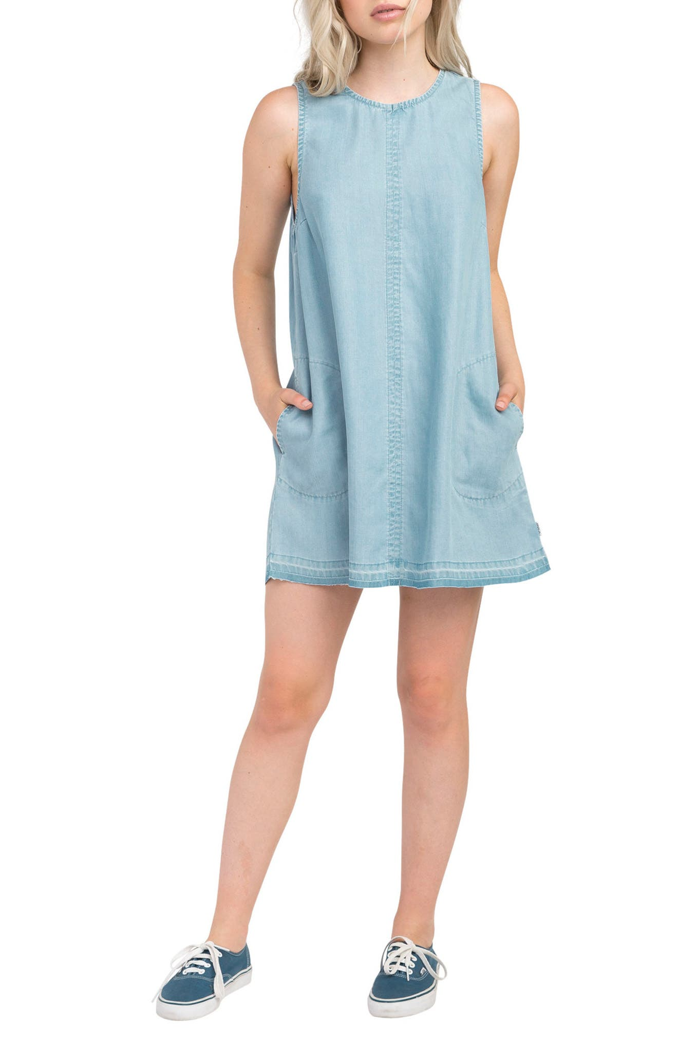 RVCA Release Chambray Shift Dress