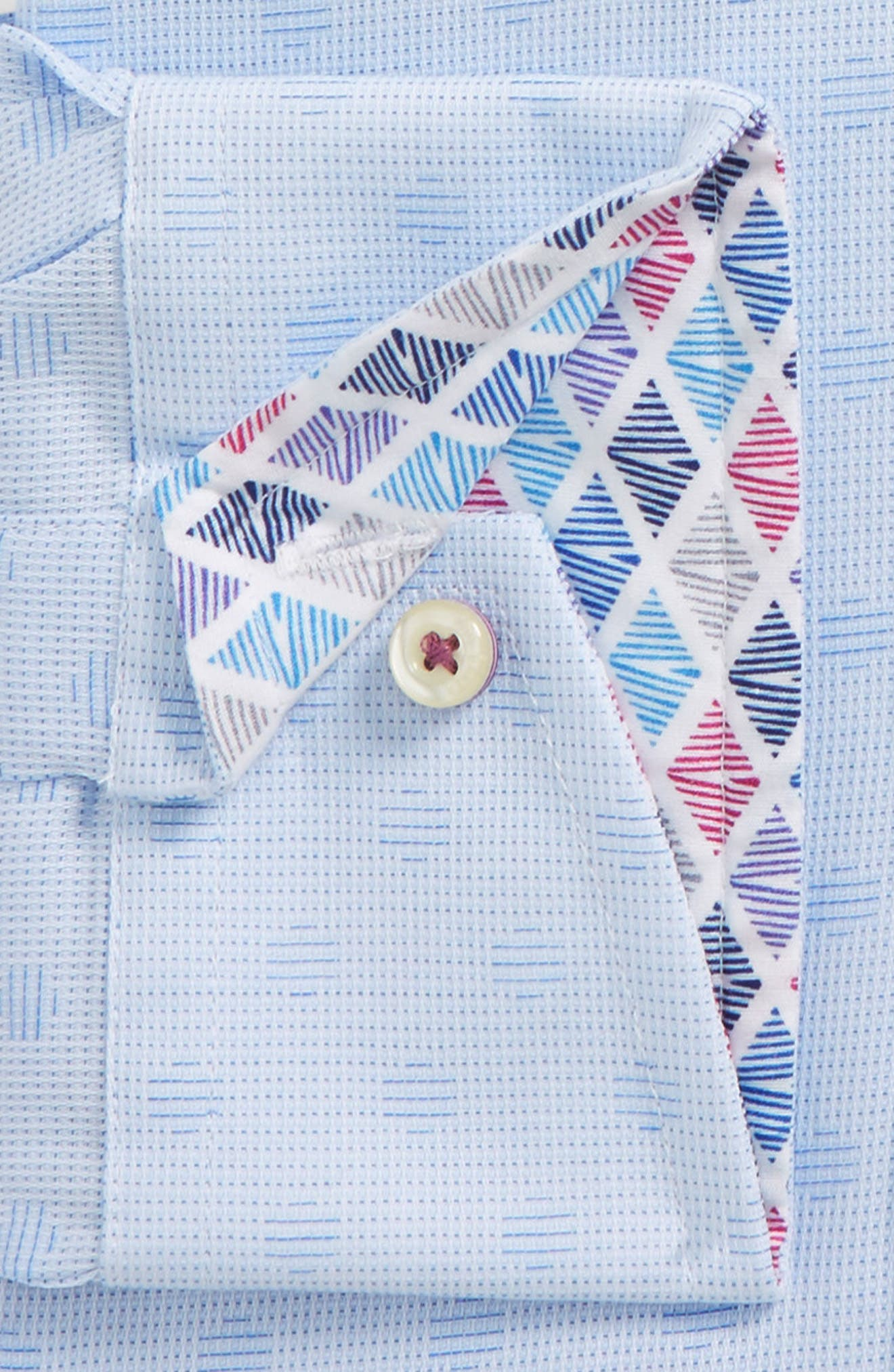 Racking Trim Fit Dot Dress Shirt,                             Alternate thumbnail 2, color,                             Blue