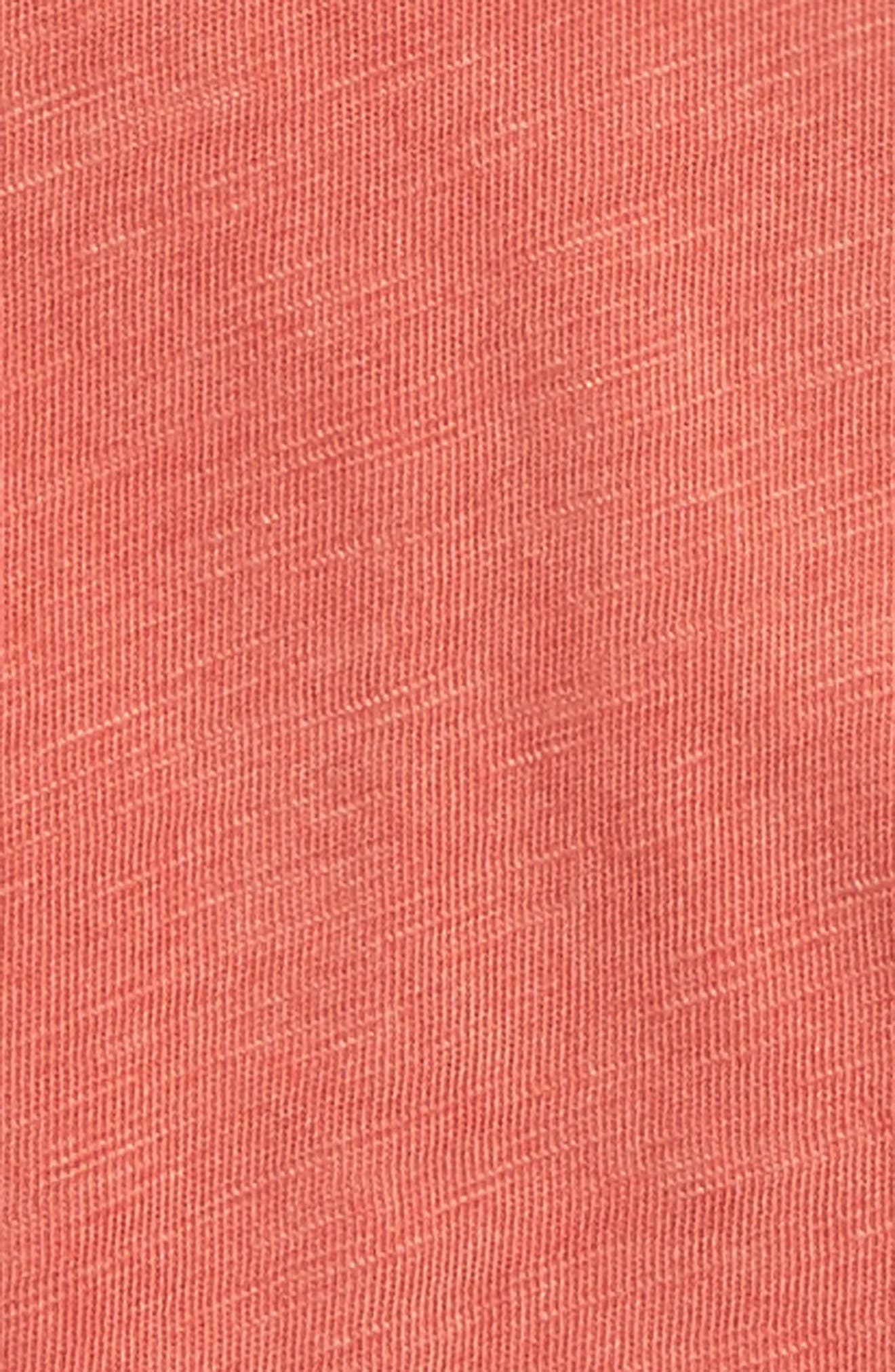 Washed Slub Jersey T-Shirt,                             Alternate thumbnail 2, color,                             Red Sequoia