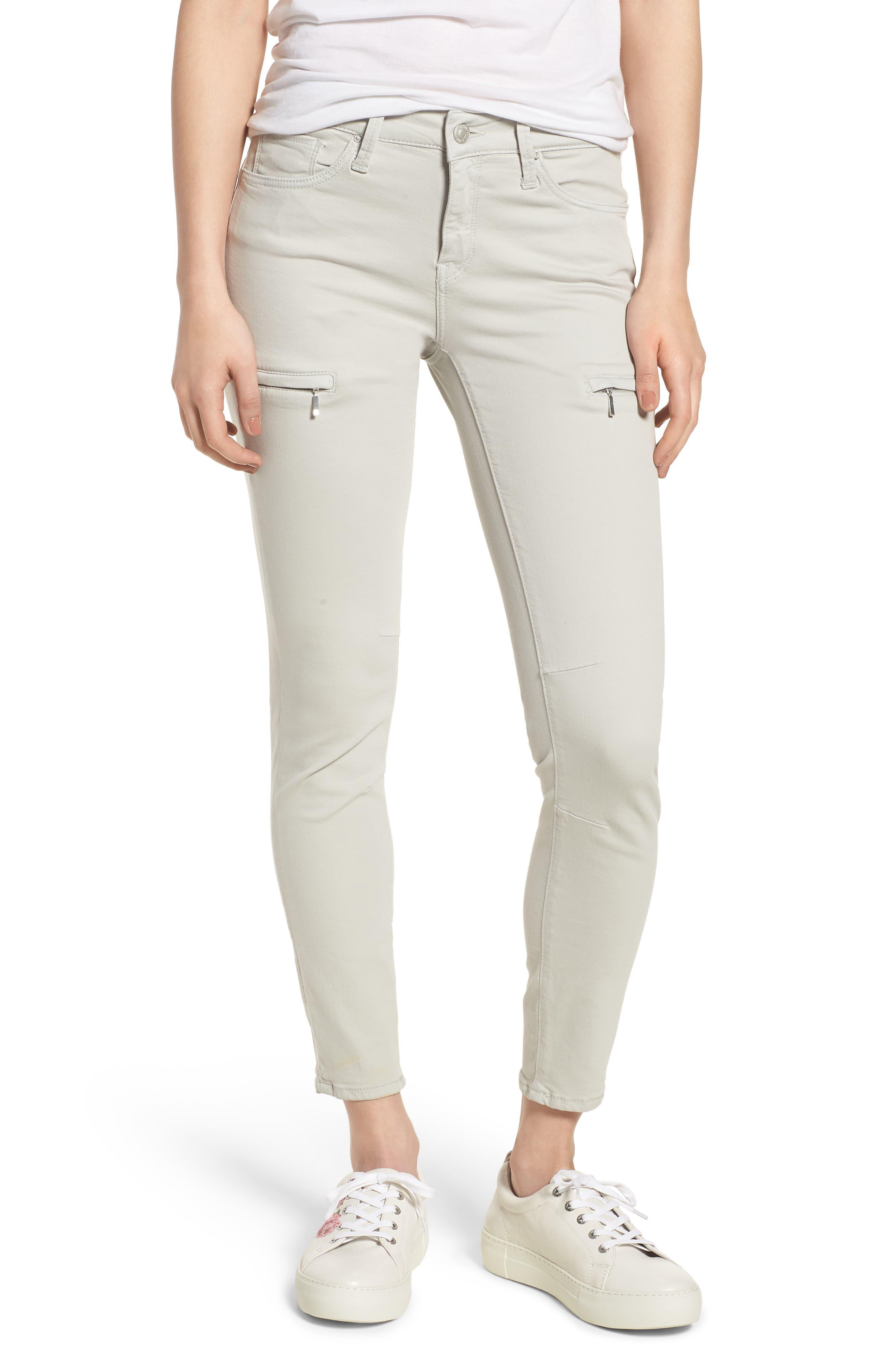 Mavi Karlina Skinny Cargo Pants,                         Main,                         color, Glacier Grey Twill