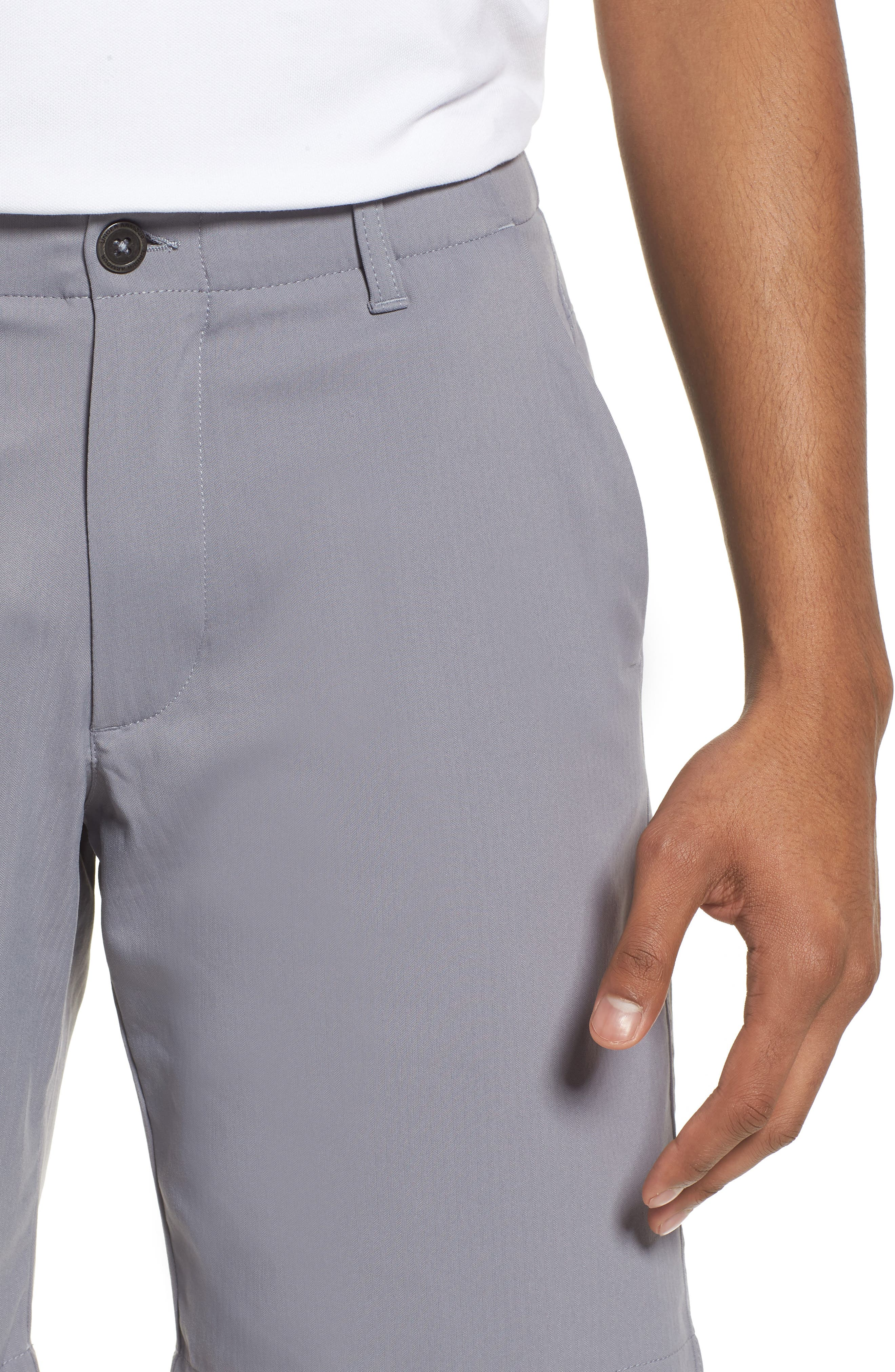 Takeover Regular Fit Golf Shorts,                             Alternate thumbnail 4, color,                             Zinc Grey