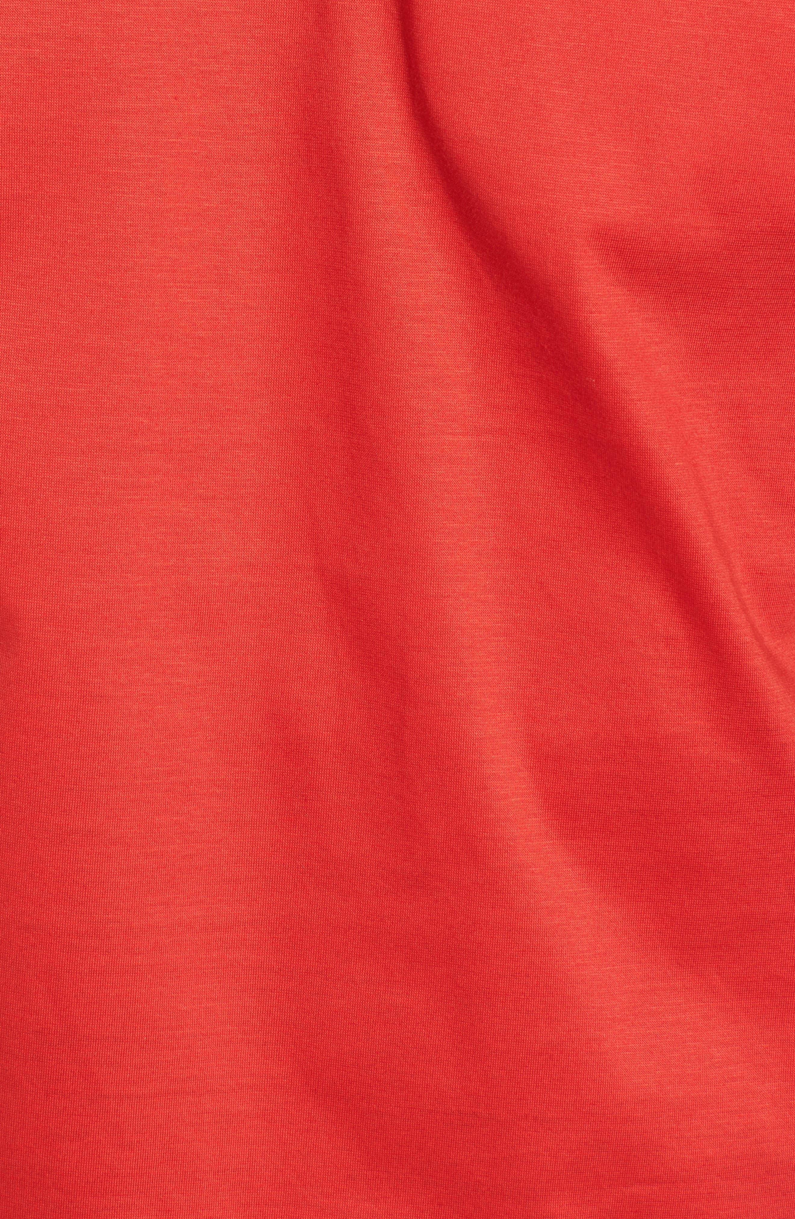 Puggltt Trim Fit Stripe Polo,                             Alternate thumbnail 5, color,                             Coral