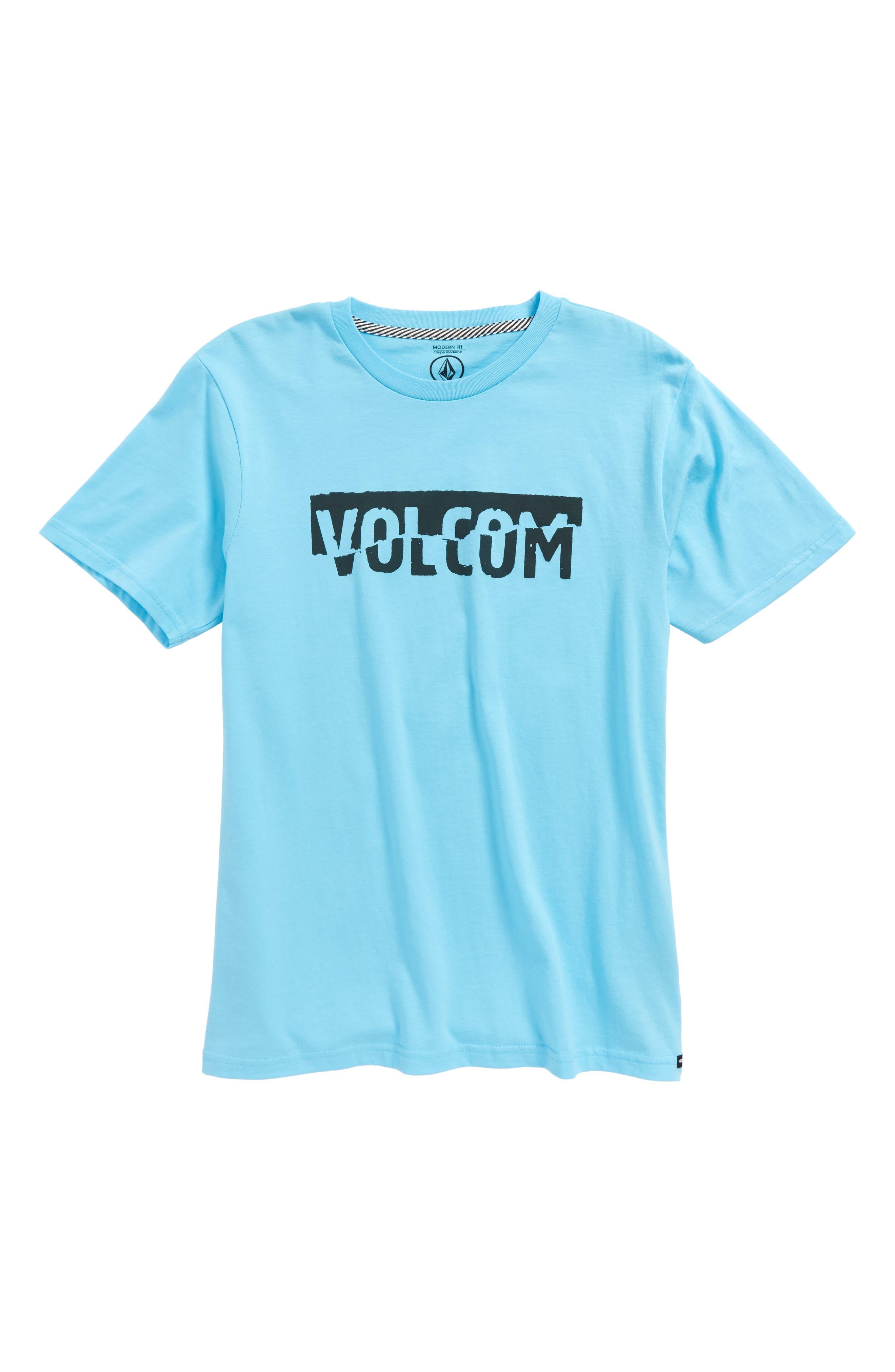 Fracture Organic Cotton T-Shirt,                         Main,                         color, Aqua
